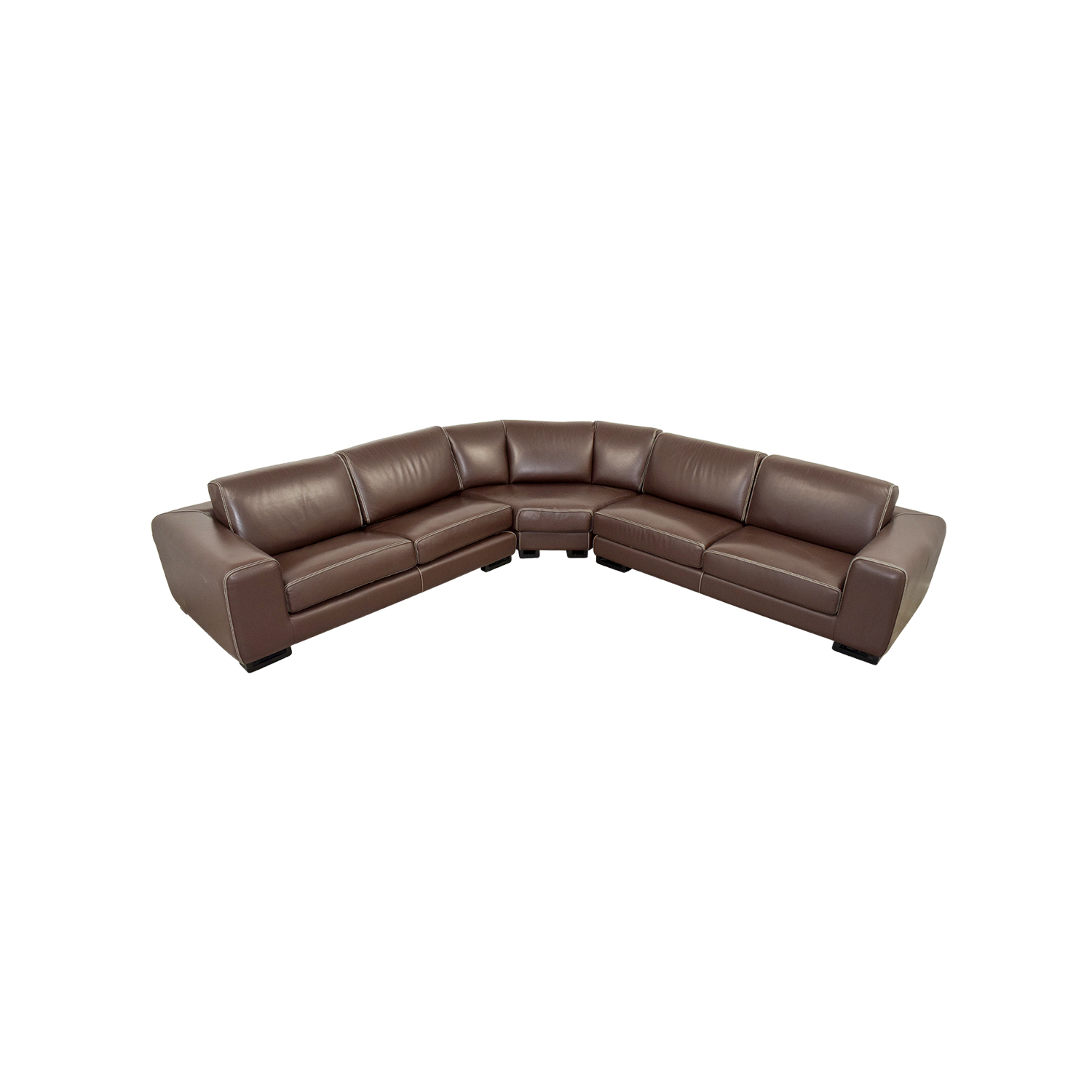 Roche Bobois Roche Bobois Brown Leather Sectional Sofa Bed for sale