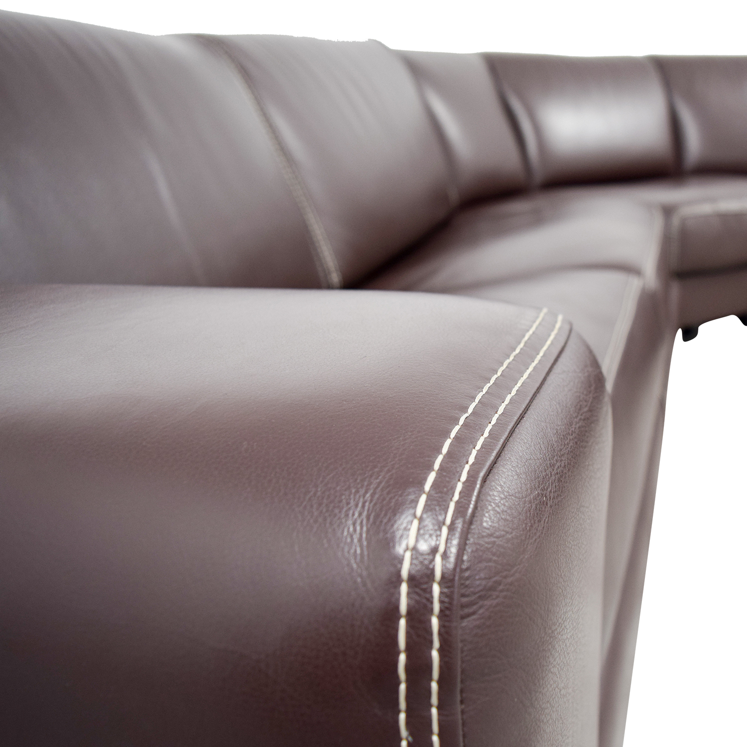 Roche Bobois Brown Leather Sectional Sofa Bed