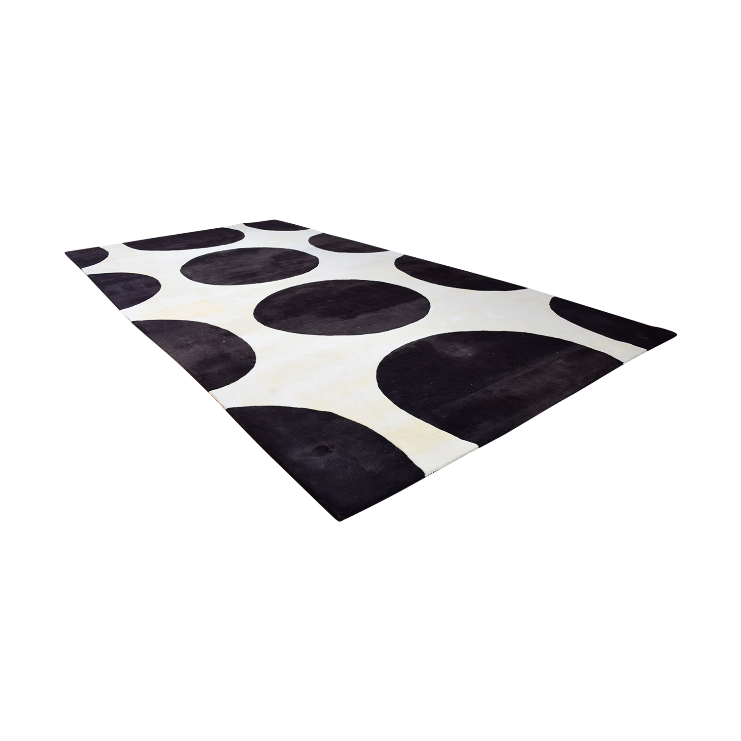 Gandia Blasco Brown and Cream Polkadot Rug sale