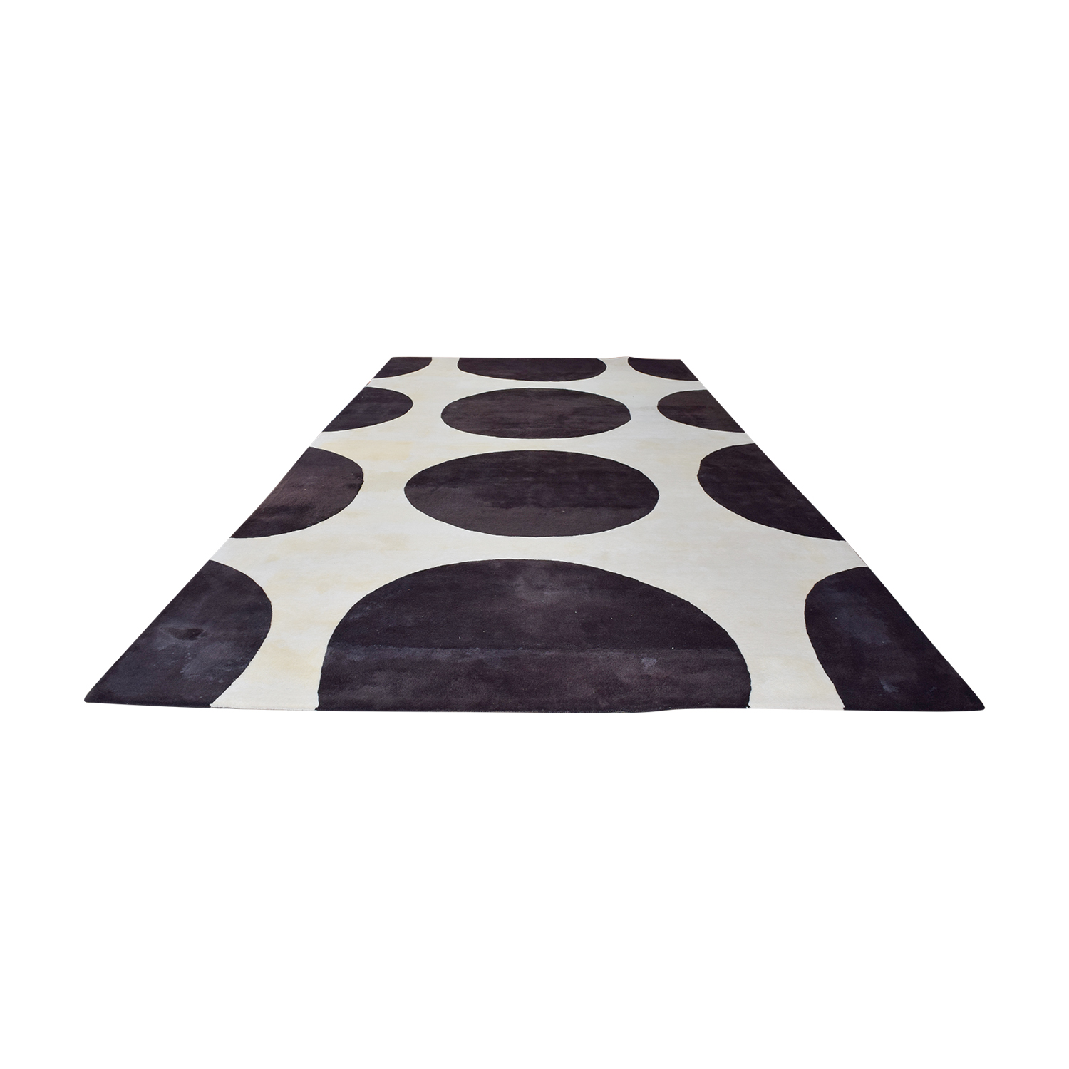 buy Gandia Blasco Brown and Cream Polkadot Rug Gandia Blasco Rugs