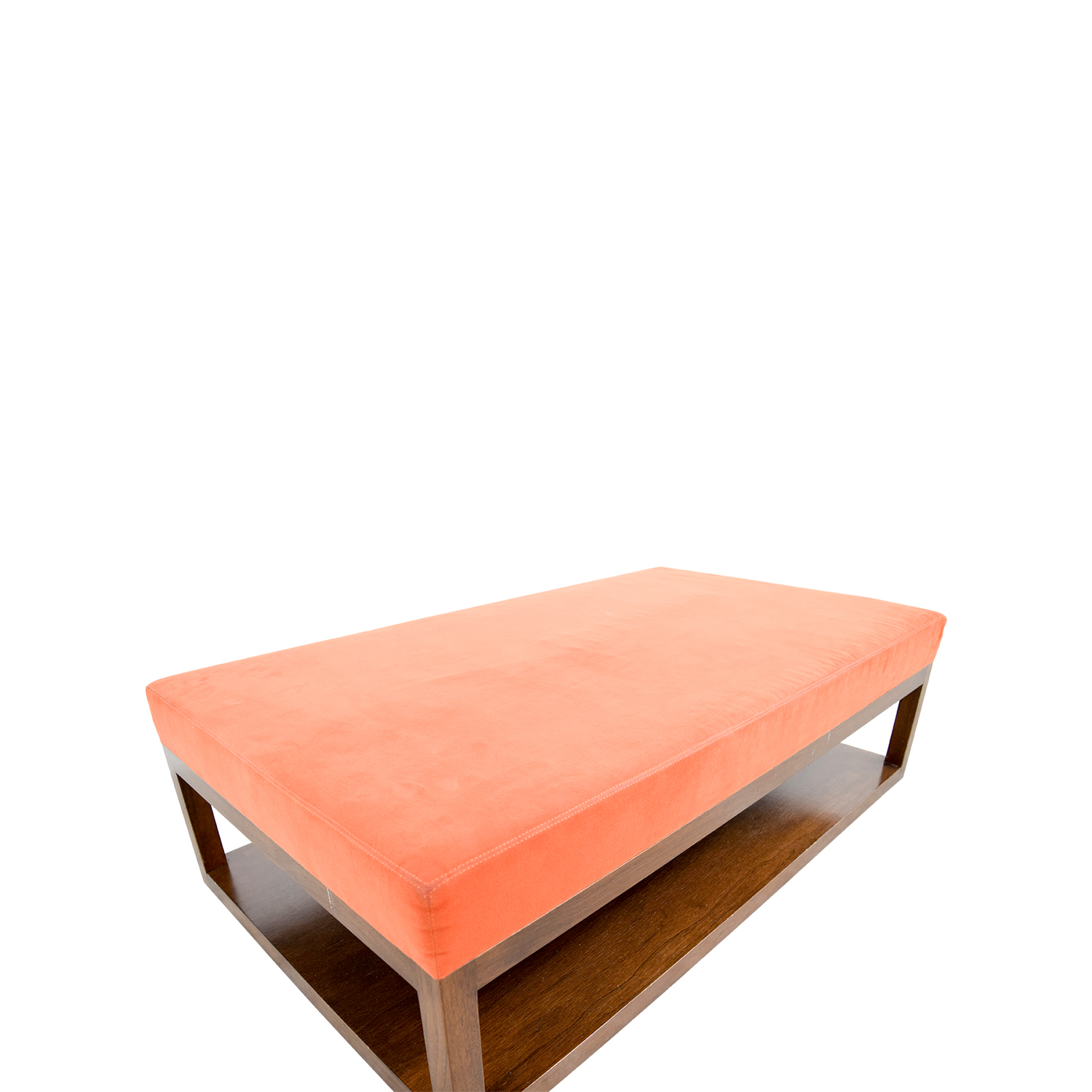 what to put on end tables in living room 70 custom made custom orange ottoman with wood base 28347