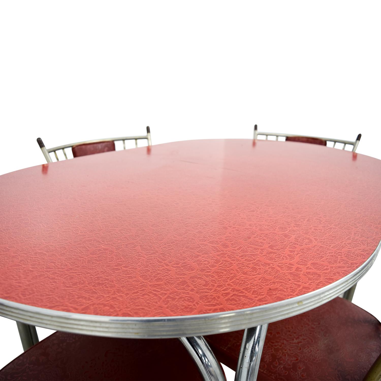 Retro Red Dinette Set / Tables