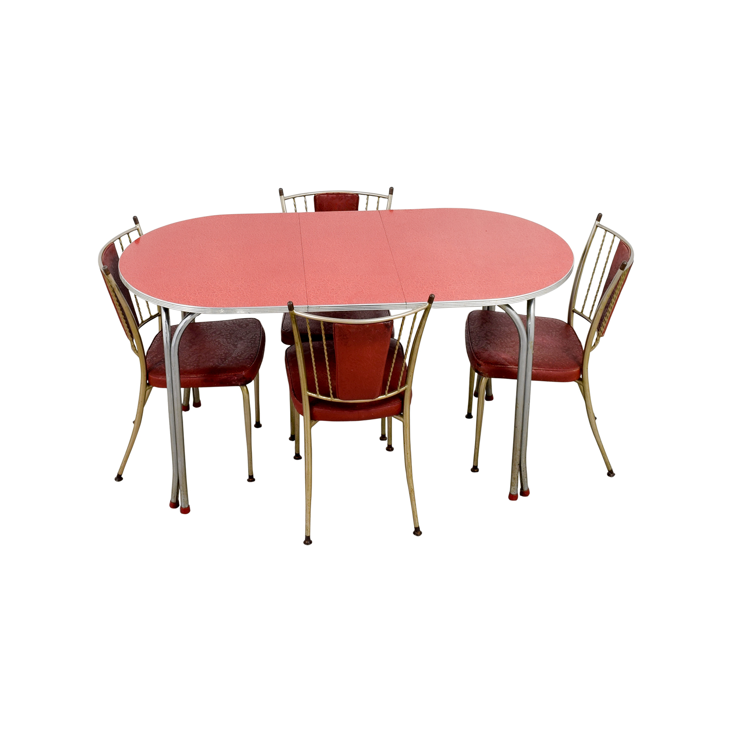 Retro Red Dinette Set second hand