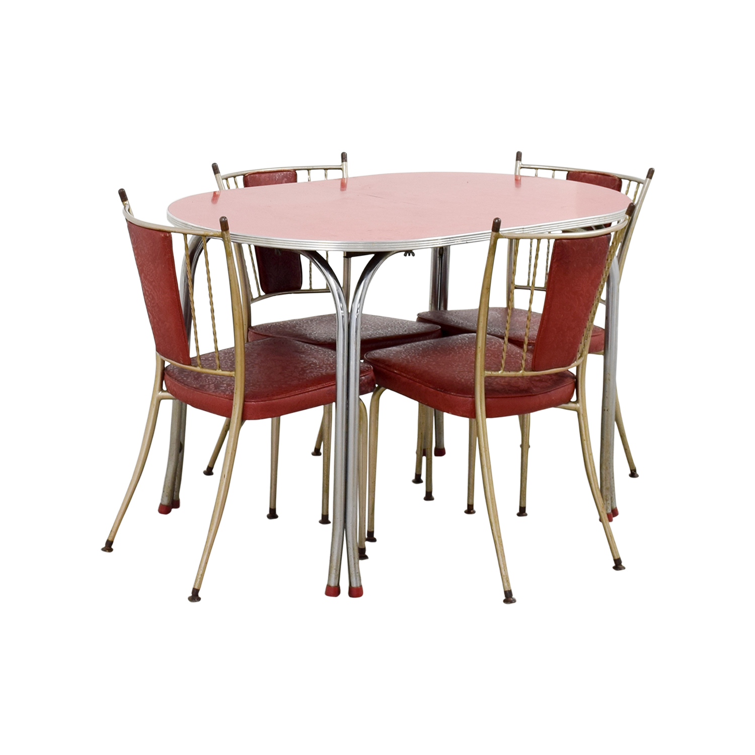 65 OFF Retro Red Dinette Set Tables : used retro red dinette set from furnishare.com size 1500 x 1500 jpeg 528kB