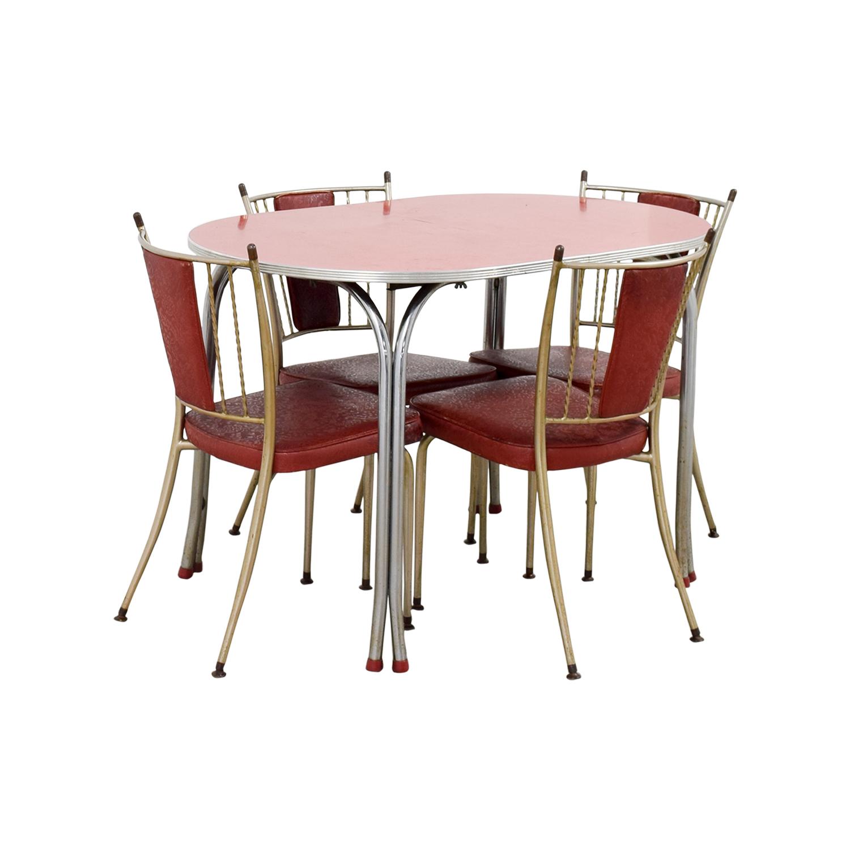 Set Red Kitchen Chairs
