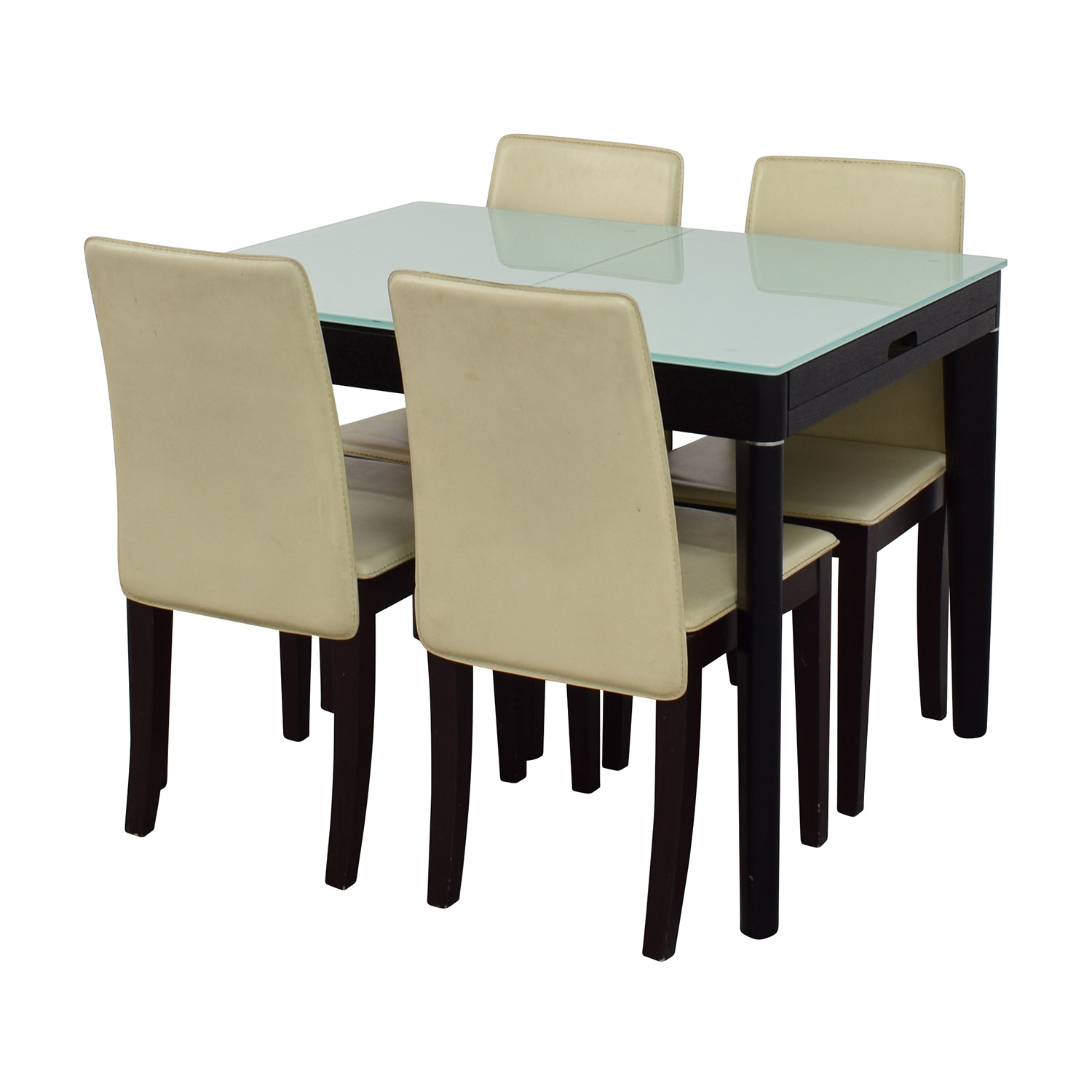 Expandable Glass and Wood Dining Set coupon