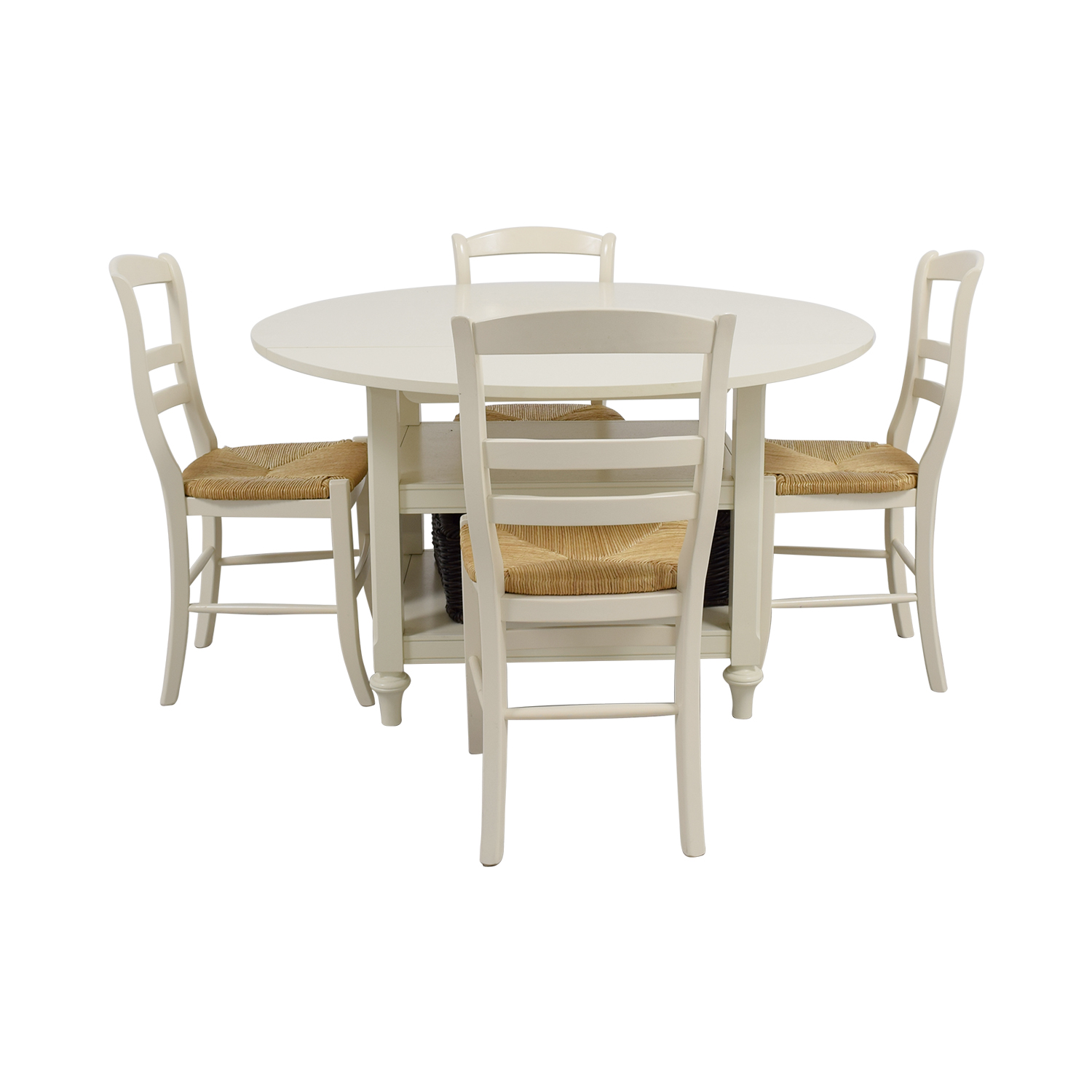 Pottery Barn Pottery Barn Shayna Drop Leaf Table with Chairs Cream