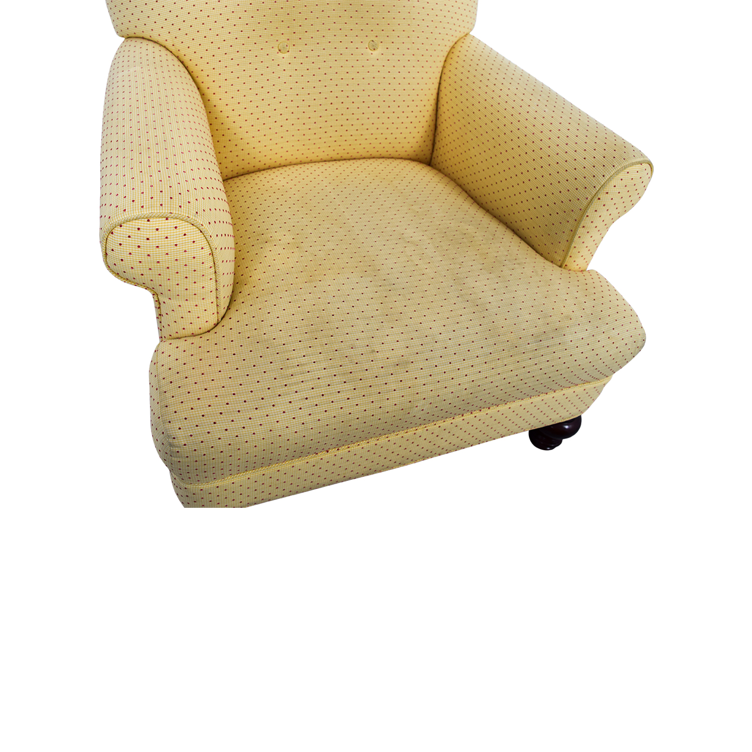 Yellow Arm Chair with Ottoman Chairs