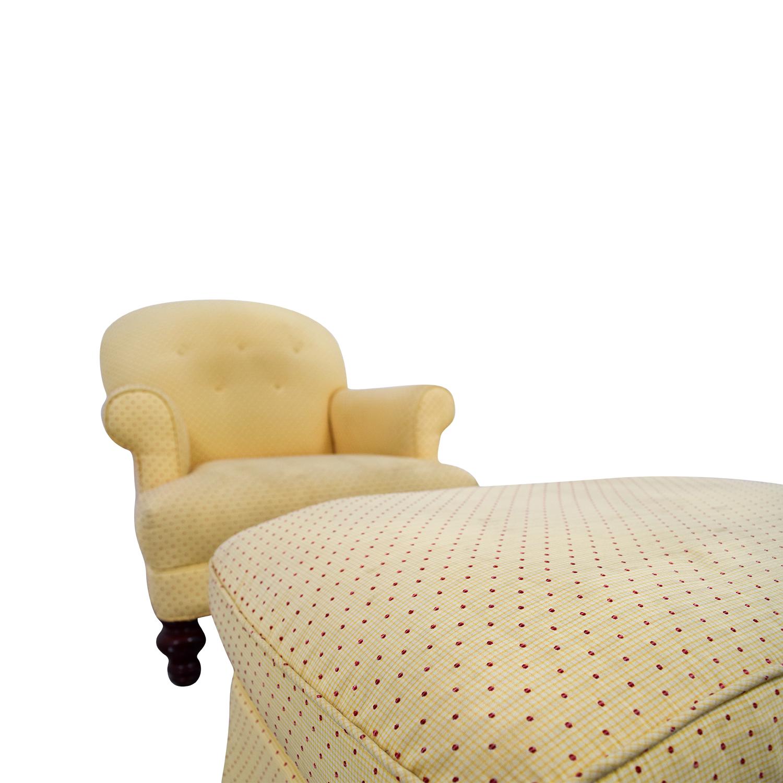 Yellow Arm Chair with Ottoman coupon