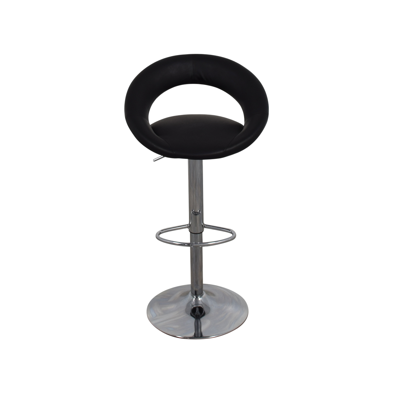 ... Shop LumiSource Kathleen Black Leather Bar Stool LumiSource Chairs ...