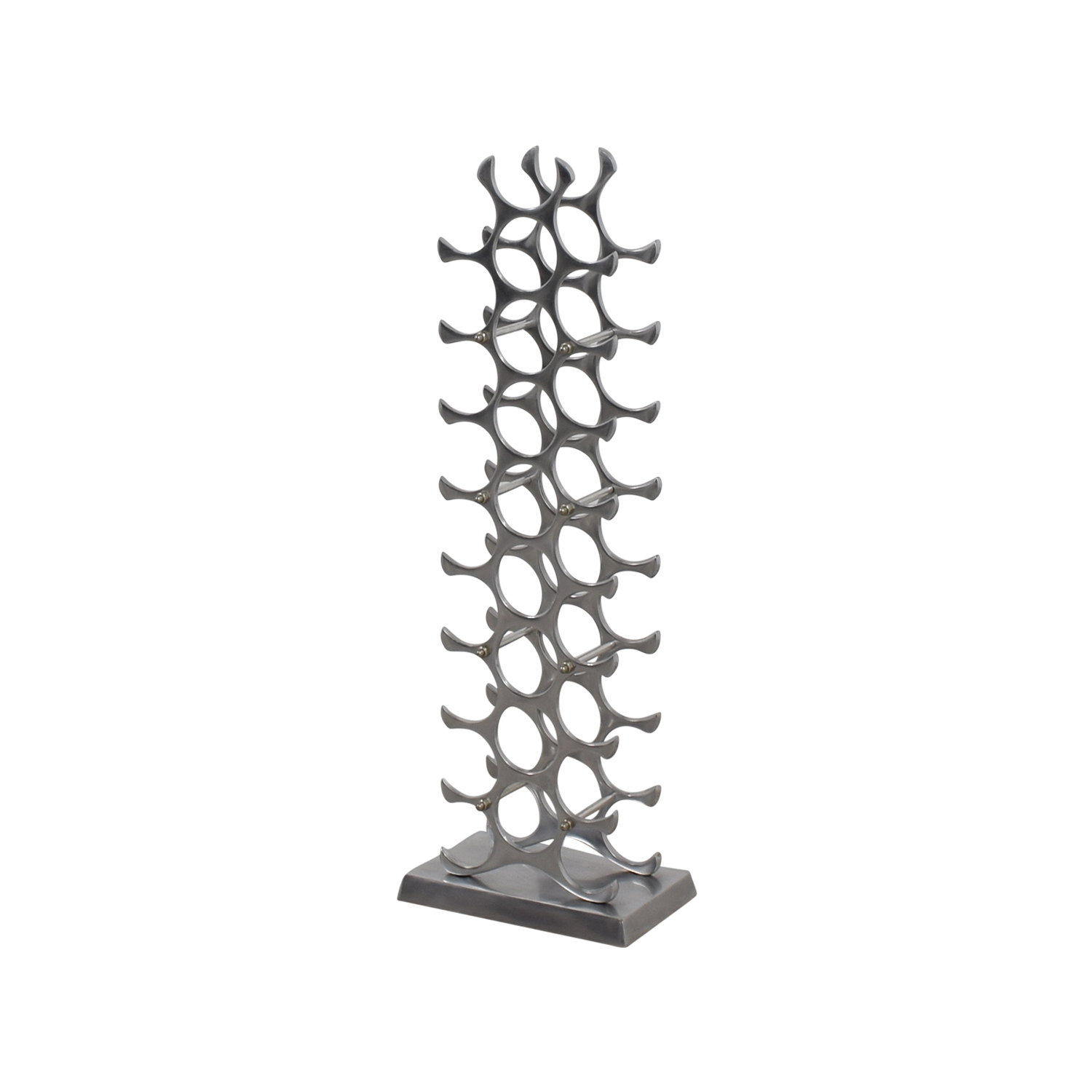 90 Off Artisanti Artisanti Silver Wine Rack Decor