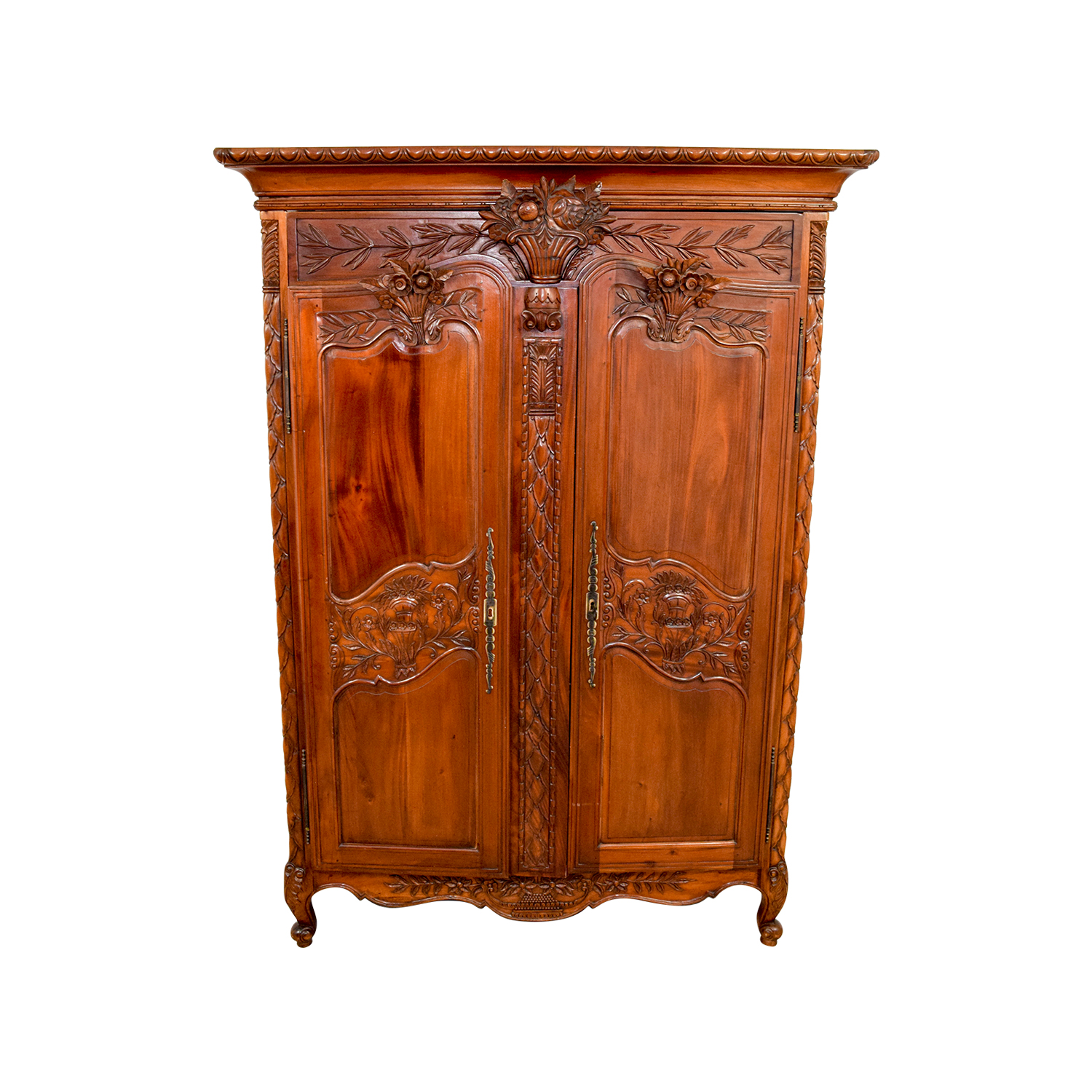 Bali Carved Wood Armoire used
