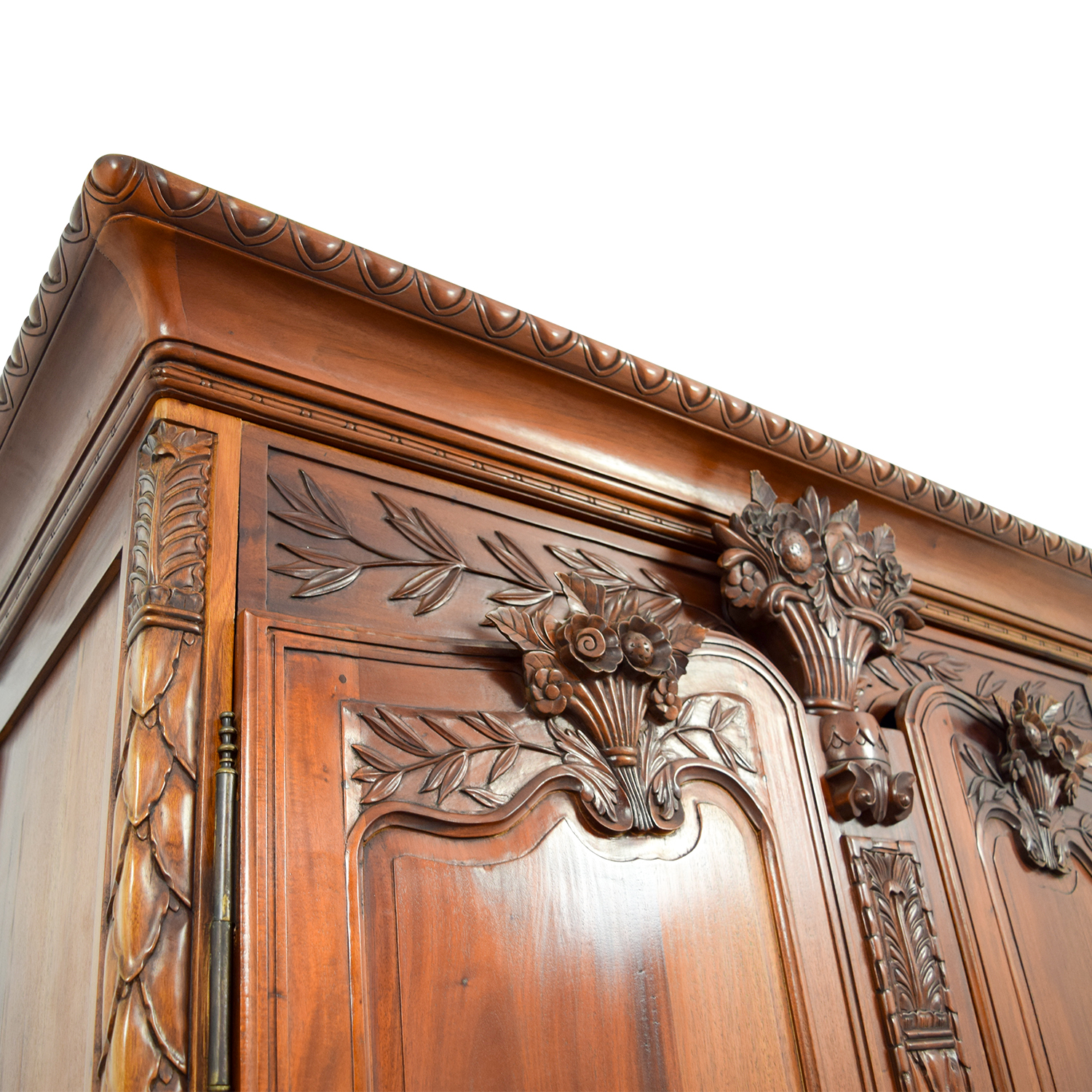 74 Off Bali Carved Wood Armoire Storage