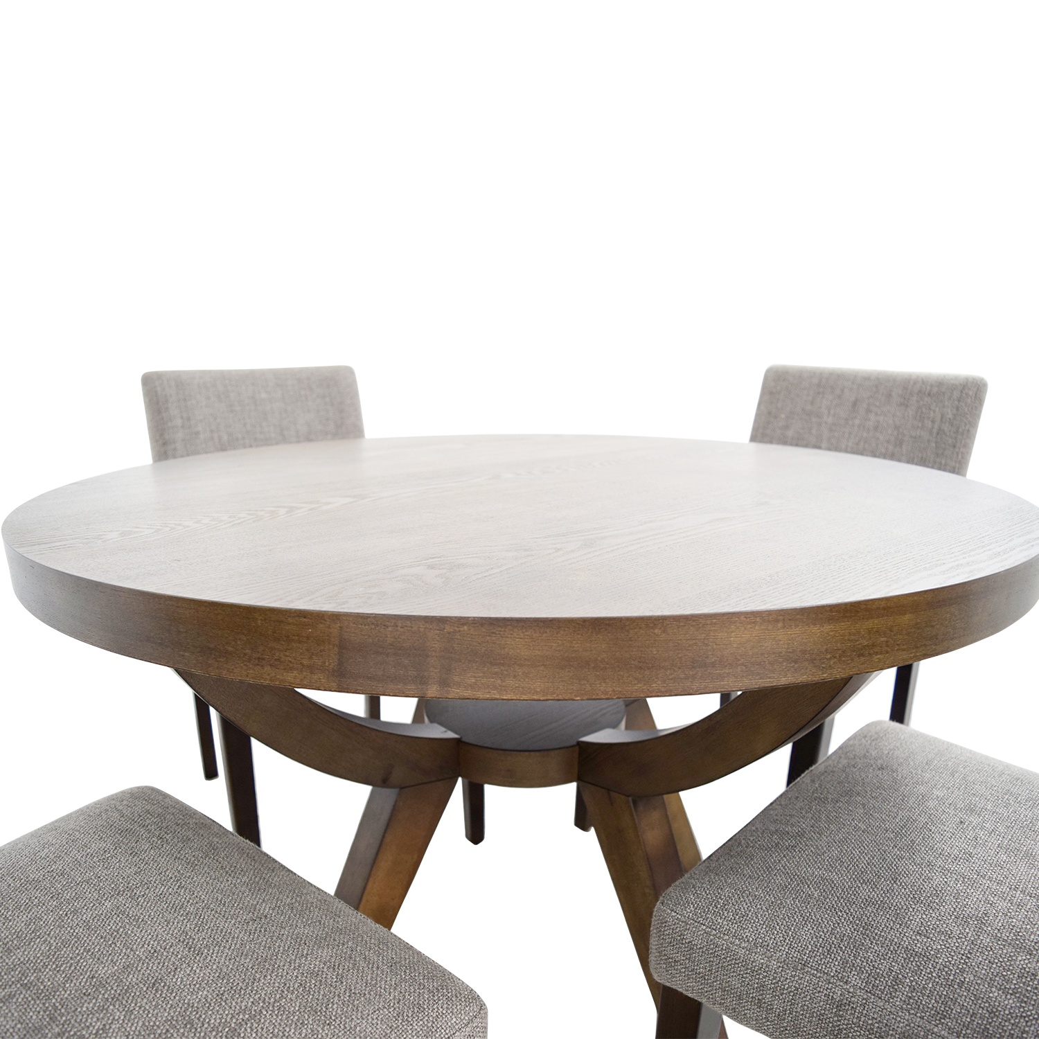 West Elm West Elm Arc Base Pedestal Table and Chairs Tables