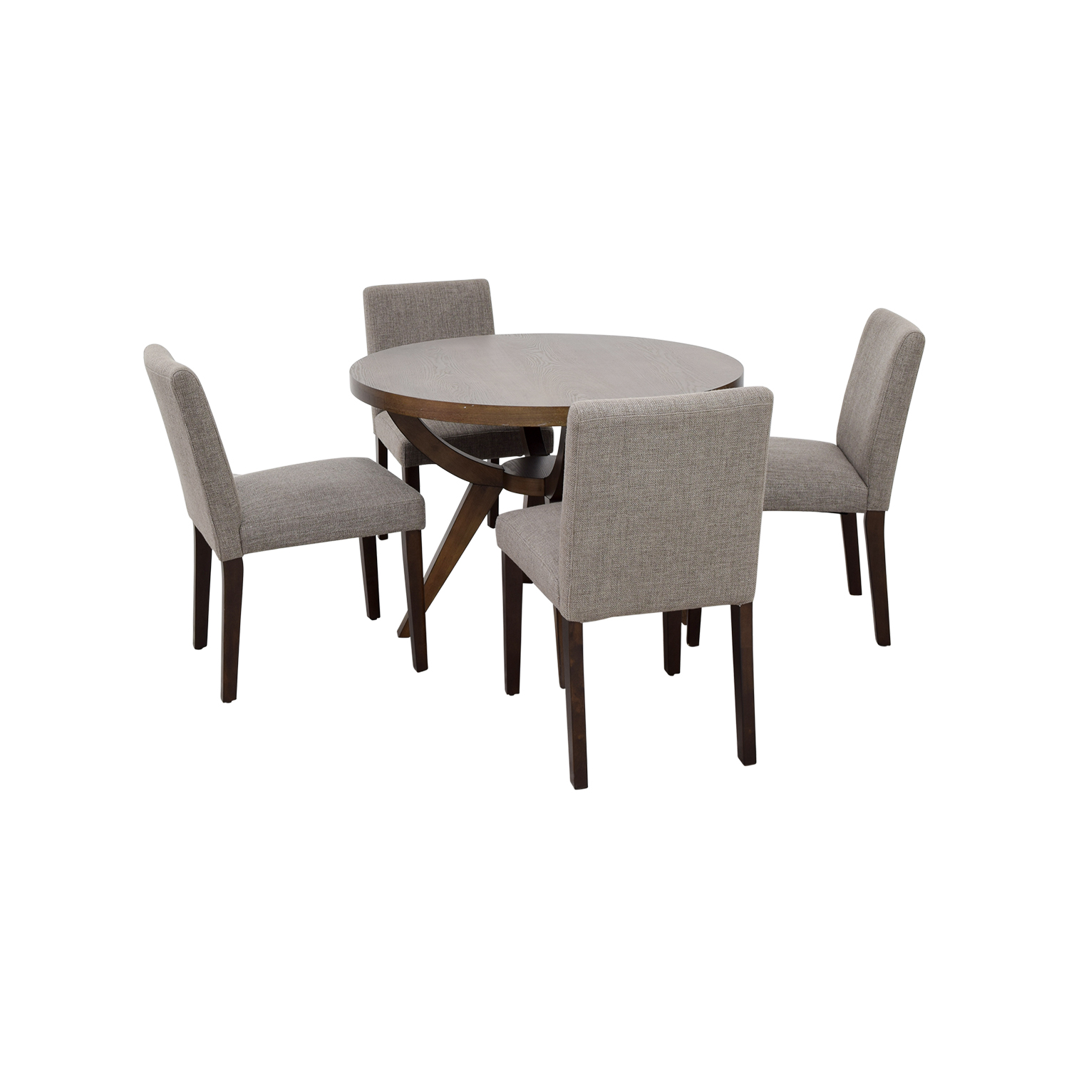 West Elm Arc Base Pedestal Table and Chairs West Elm