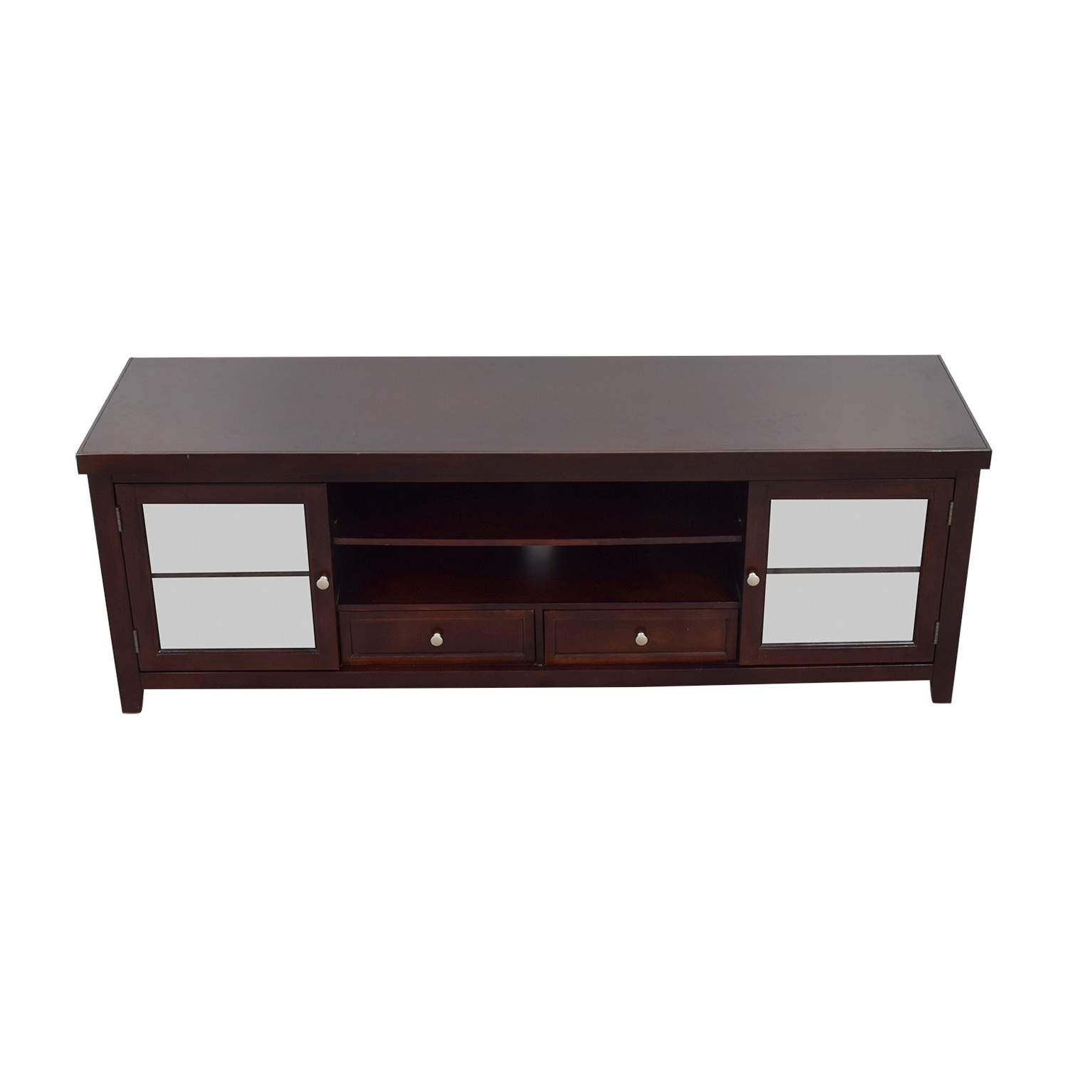 Living Spaces Living Spaces Wood and Glass TV Stand price