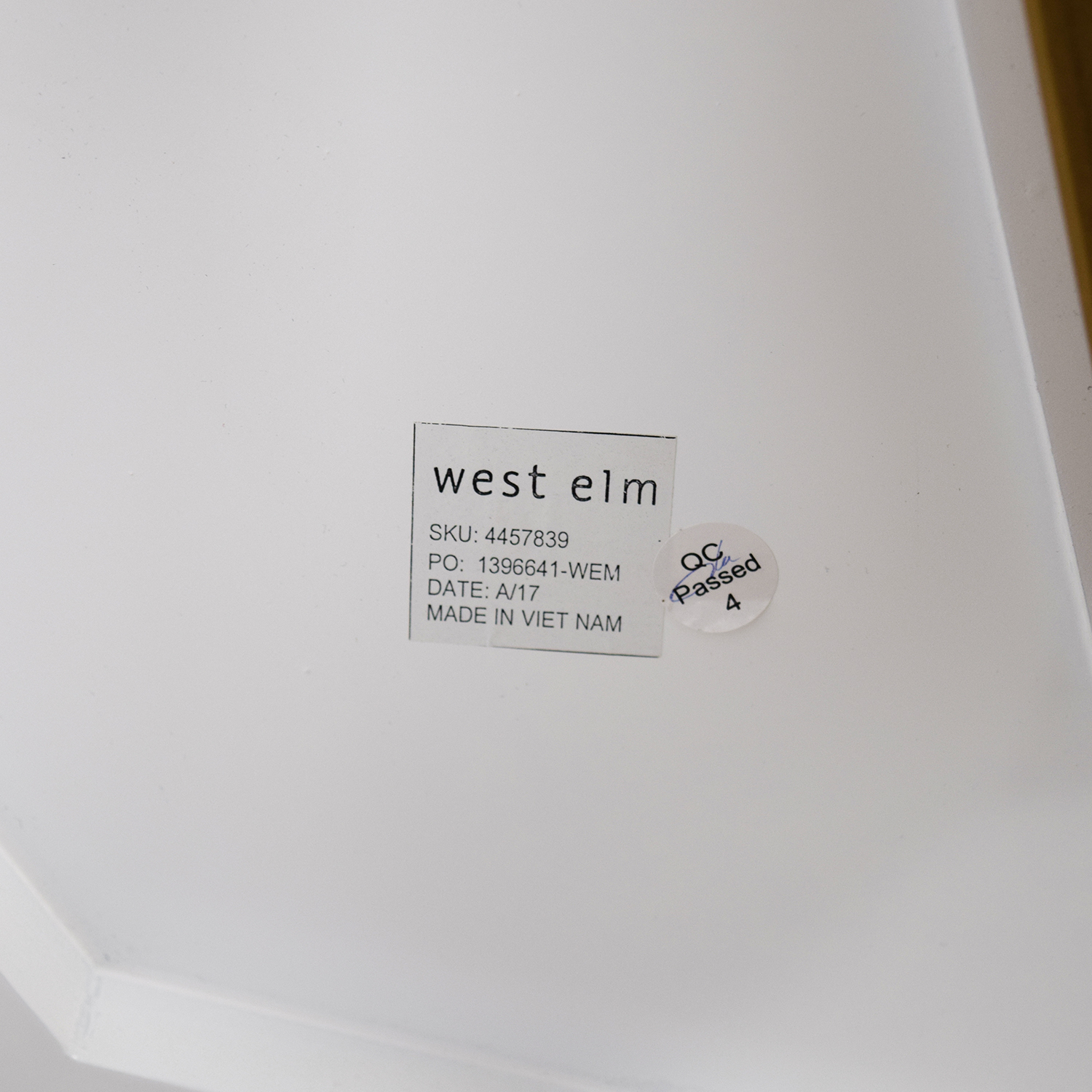 buy West Elm White Lacquer Top Cafe Table West Elm Coffee Tables