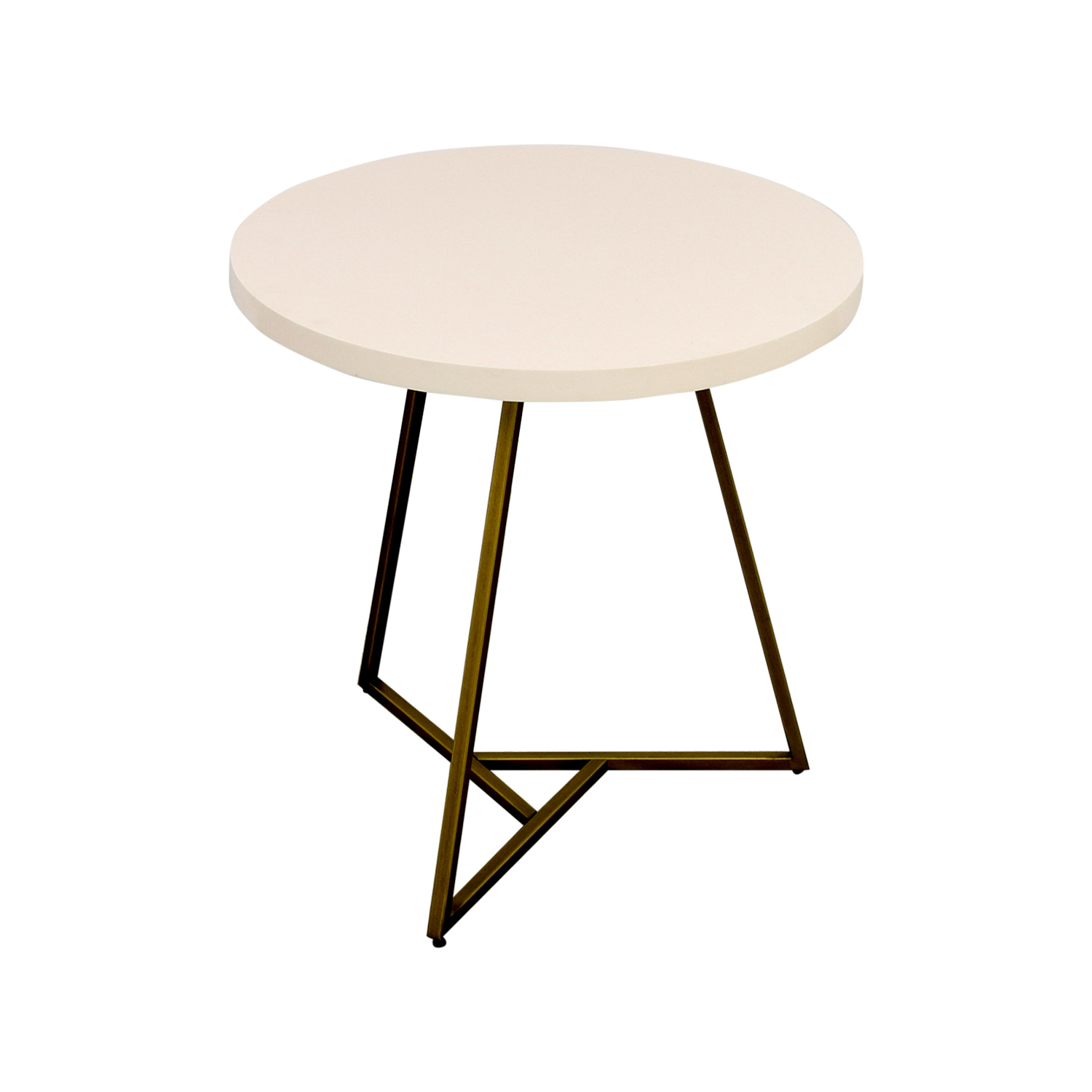 shop West Elm West Elm White Lacquer Top Cafe Table online