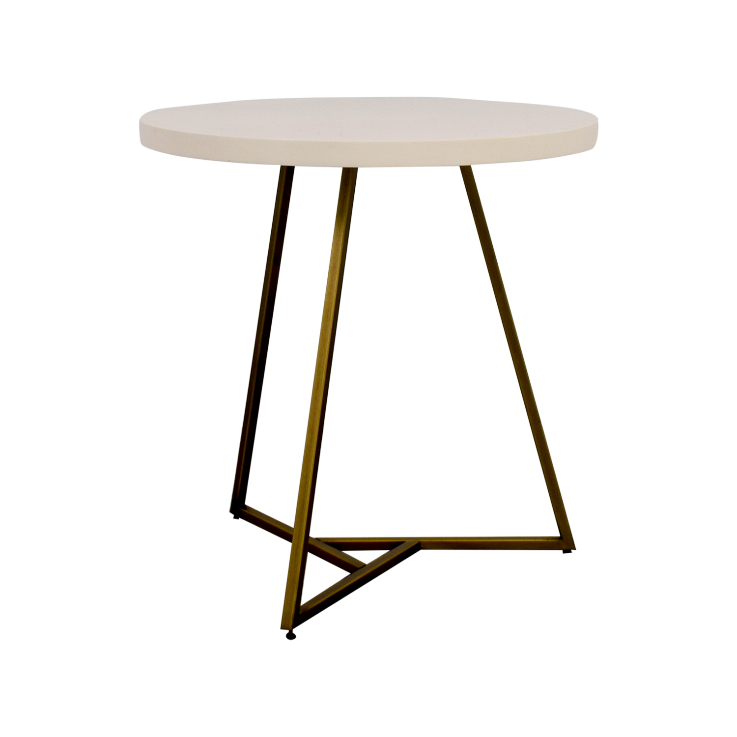 West Elm West Elm White Lacquer Top Cafe Table discount