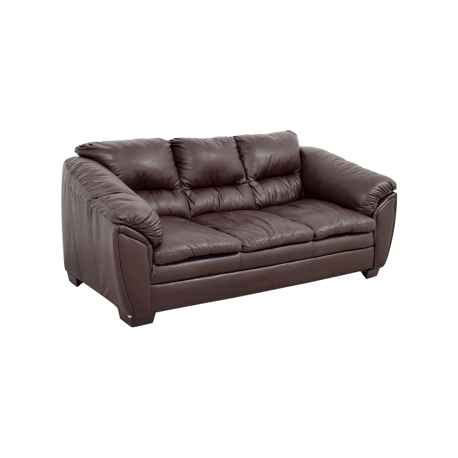 68 off brown leather sofa sofas for Second hand sofas