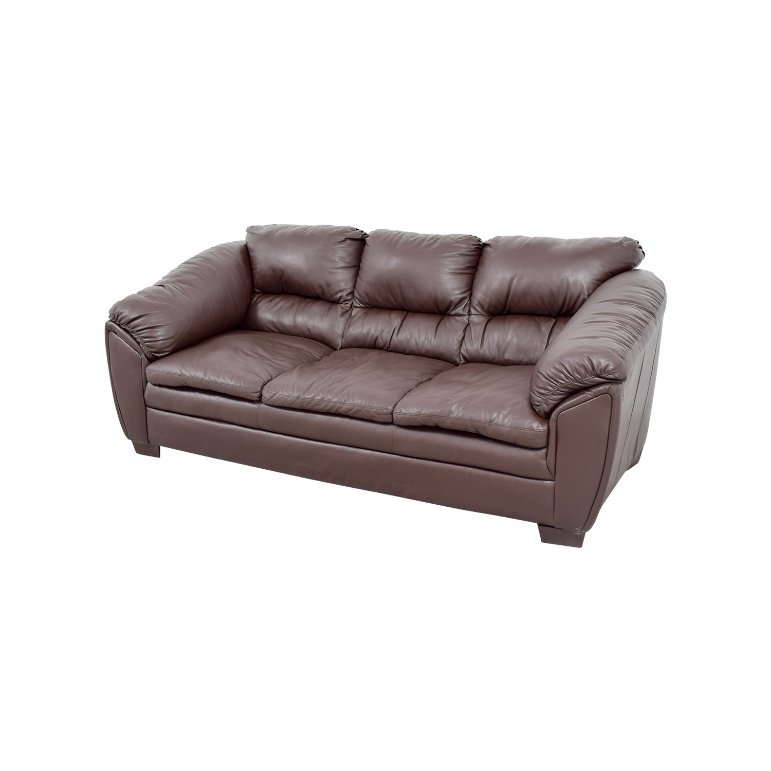 68 off brown leather sofa sofas for Classic loveseat