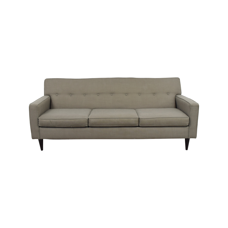 Macy's Macy's Grey Tufted Three-Cushion Couch nyc
