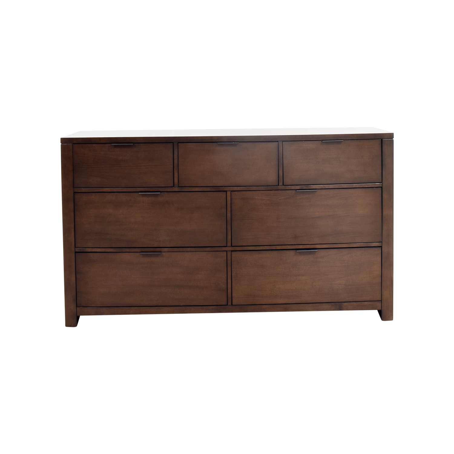 Macys Macys Tribeca Seven-Drawer Dresser dark brown