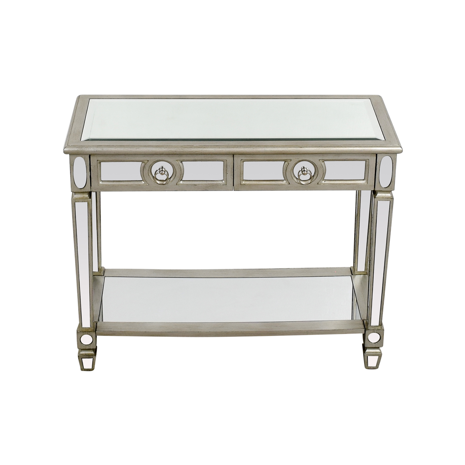 Monarch Furniture Mirrored Sofa Console Table sale