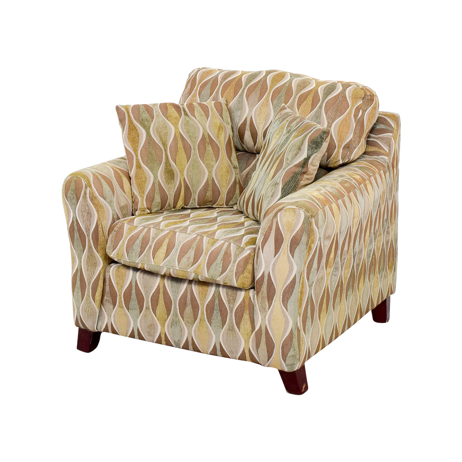 53% OFF Asymmetrical Accent Chair with Pillows Chairs