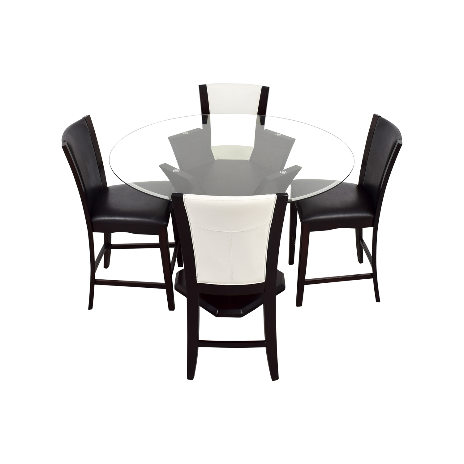 Raymour & Flanigan Raymour & Flanigan Black and White Counter Height Dining Set on sale