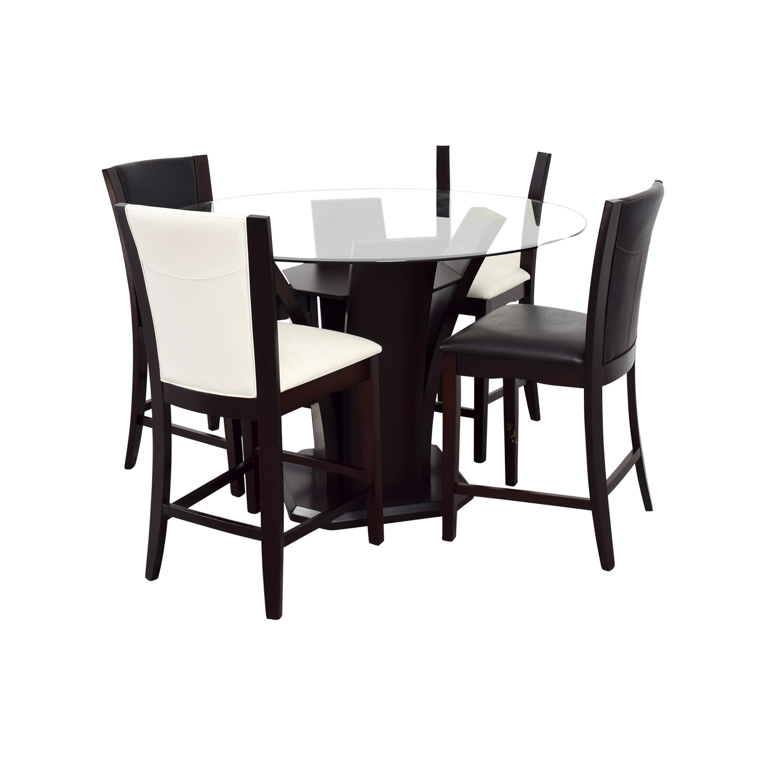 90 off raymour flanigan raymour flanigan black and for Black and white dining set