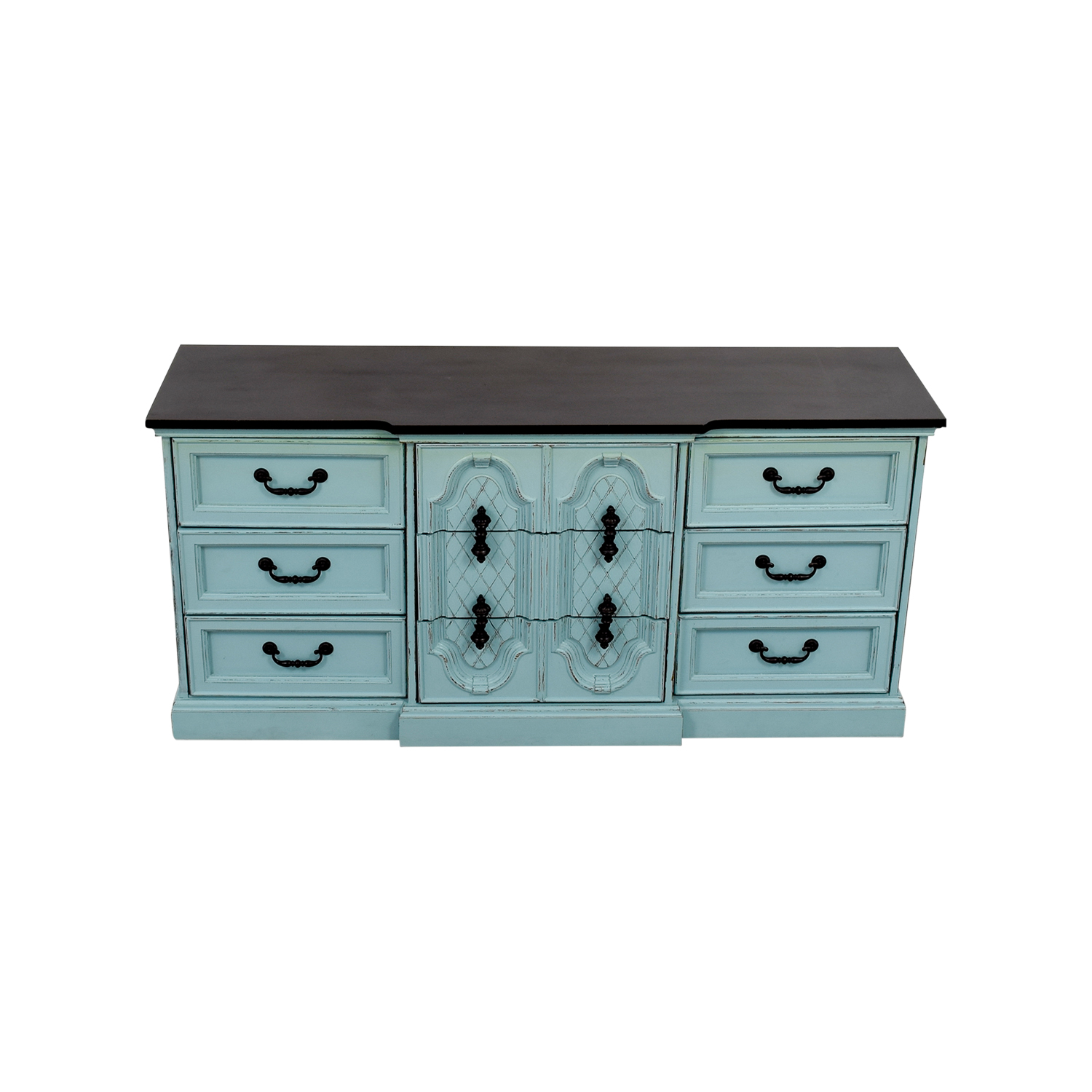 Blue Nine-Drawer Dresser nj