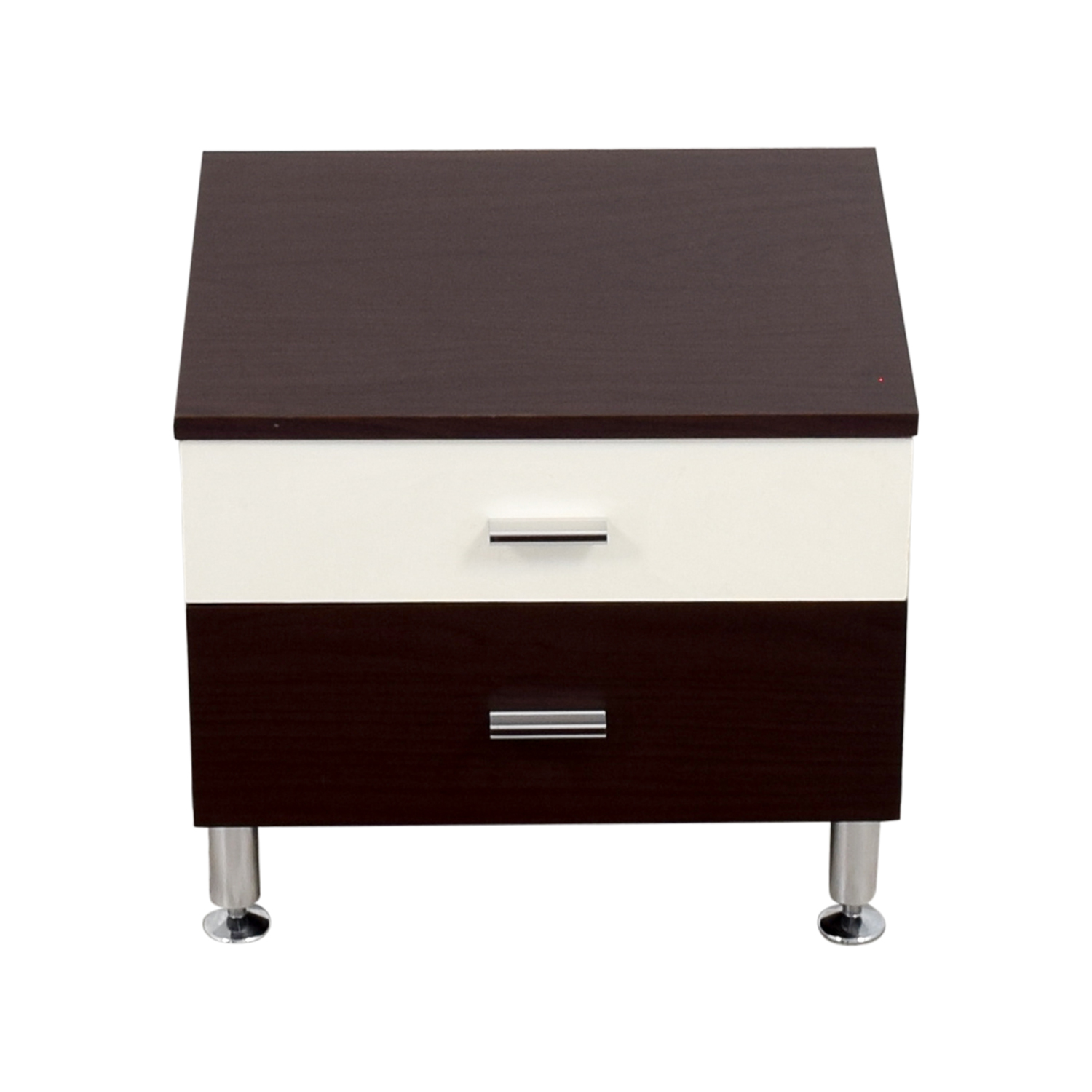 Tri-Colored Two-Drawer Nightstand