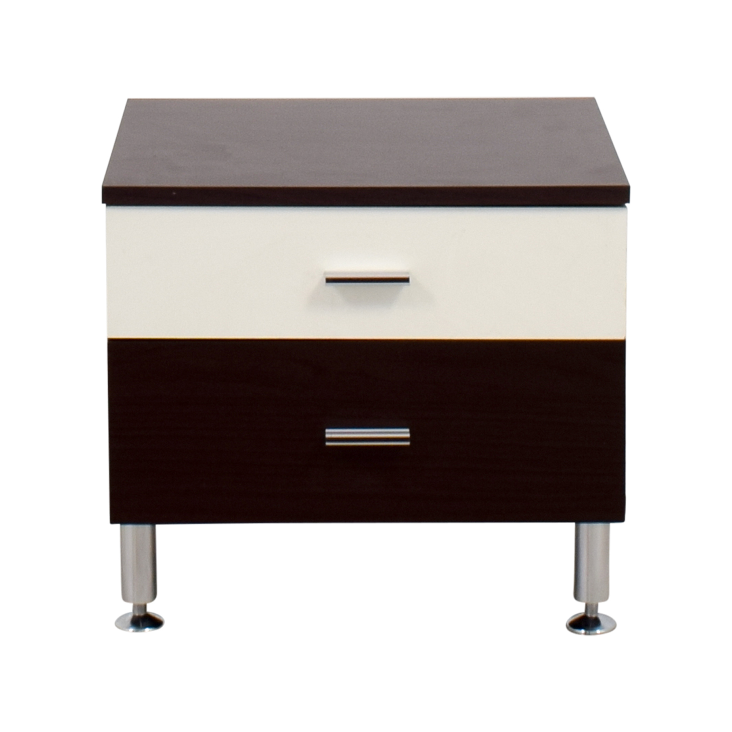 Tri-Colored Two-Drawer Nightstand Tables