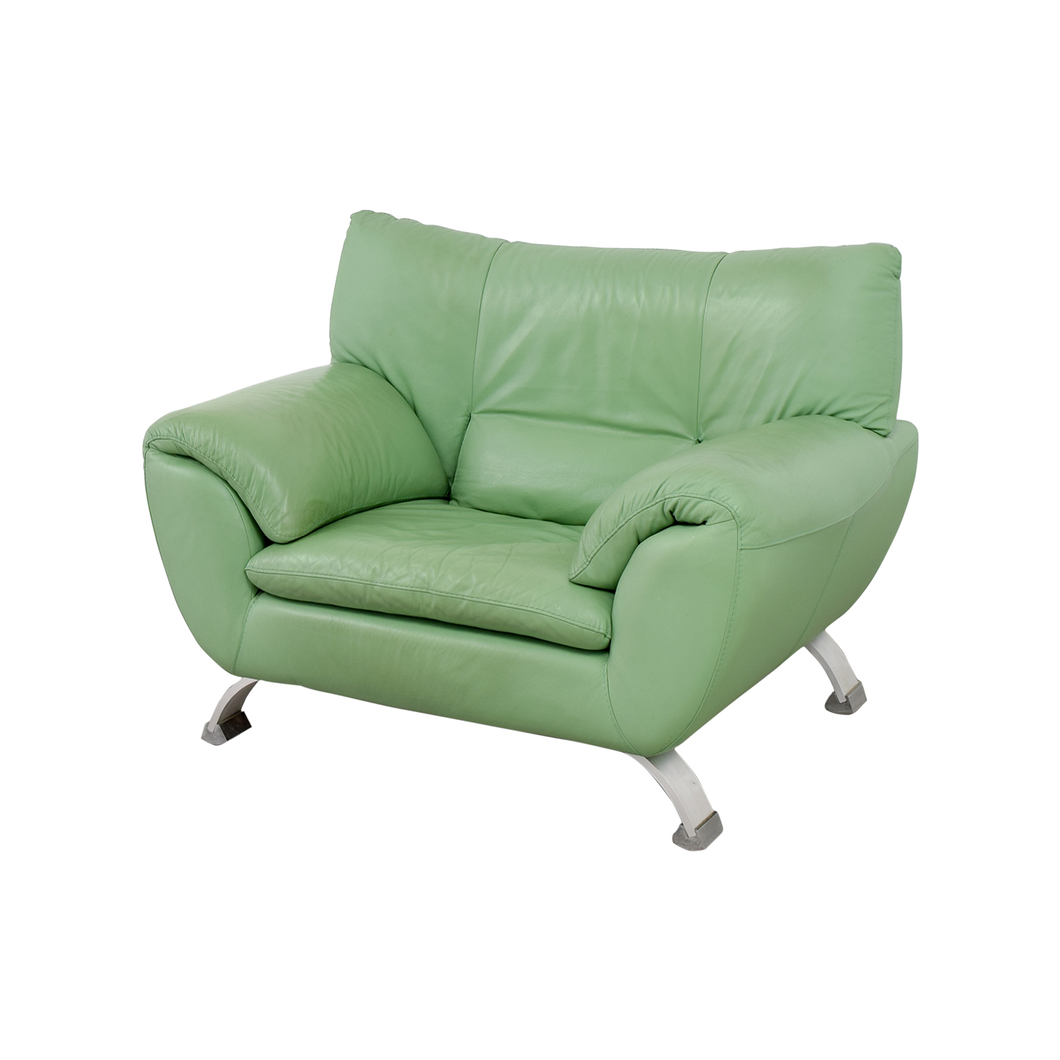90 off nicoletti nicoletti green accent chair chairs for Furniture 90 off