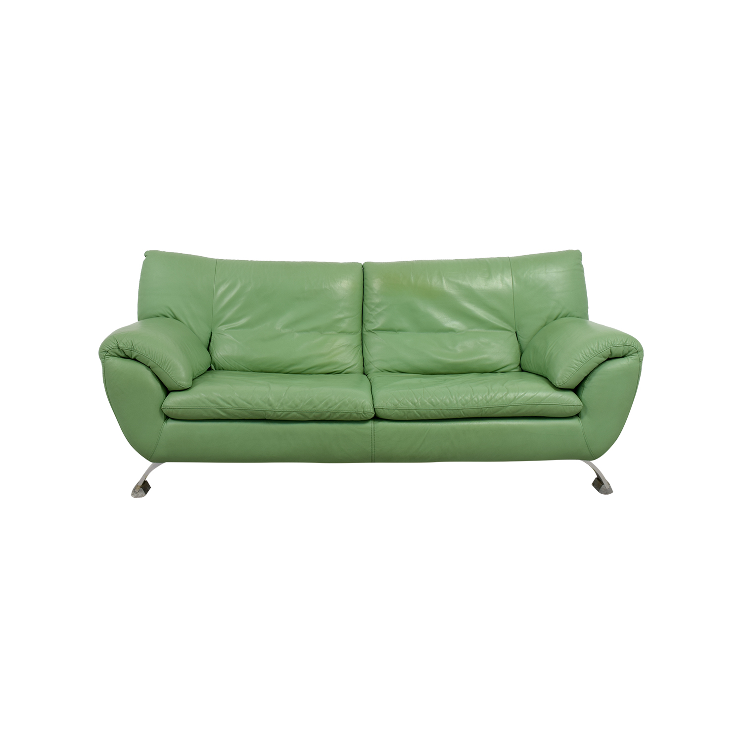 67 Off Nicoletti Nicoletti Green Leather Sofa Sofas
