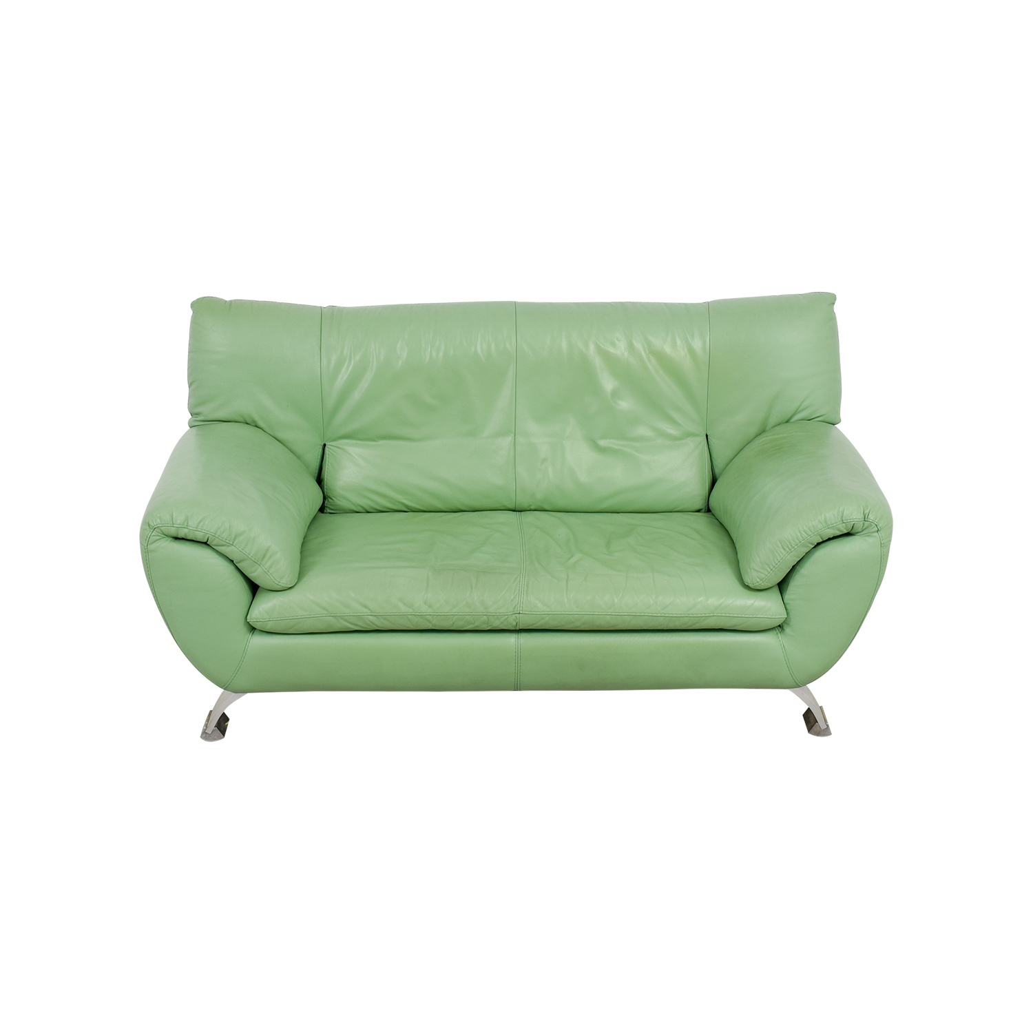 shop Nicoletti Nicoletti Leather Green Sofa online