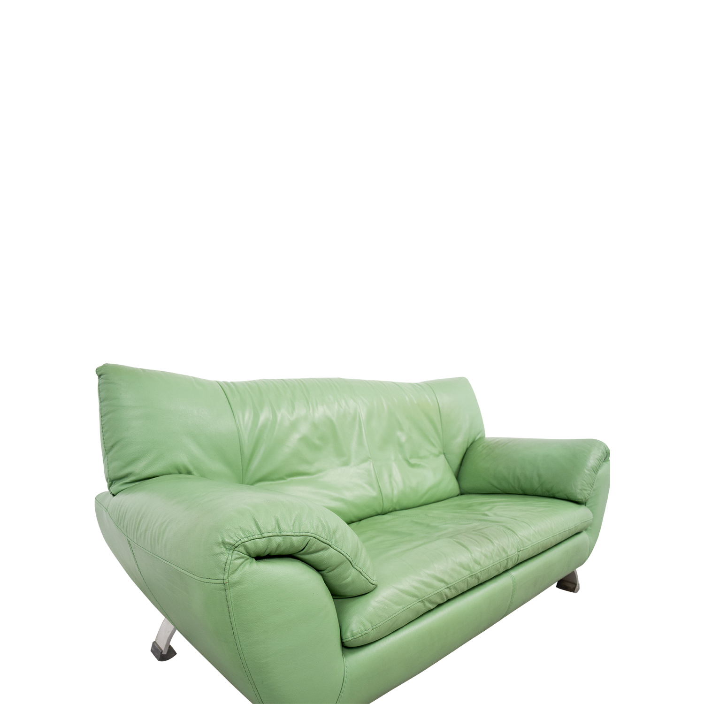 74 Off Nicoletti Home Nicoletti Leather Green Sofa Sofas