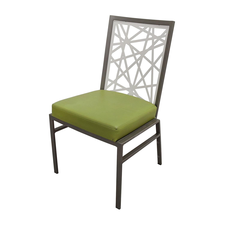 BiF Furniture Silver and Green Modern Dining Set BiF Furniture