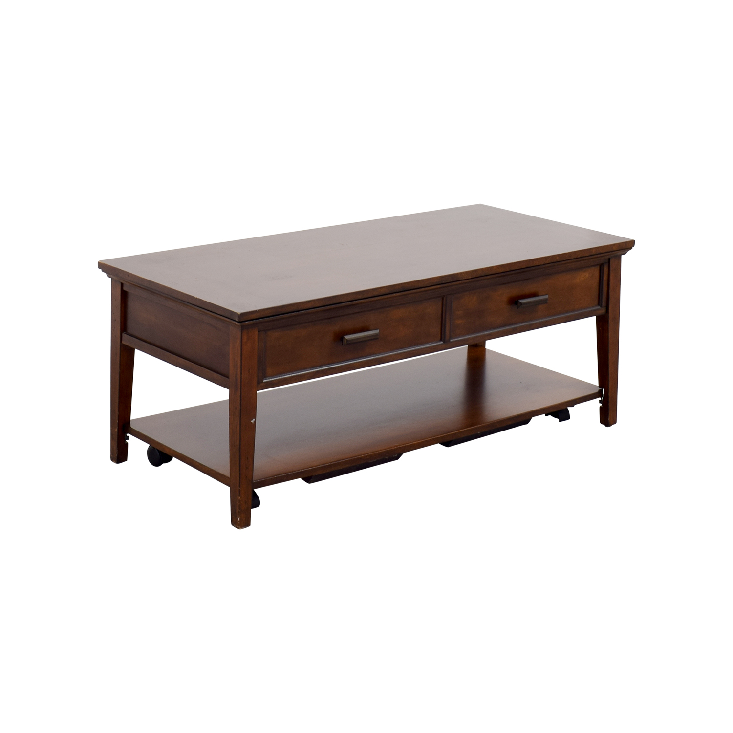 80 Off Wooden Hideaway Coffee Table Tables