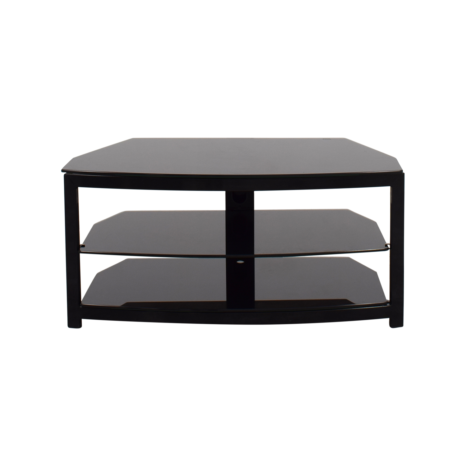 Black Glass TV Stand dimensions