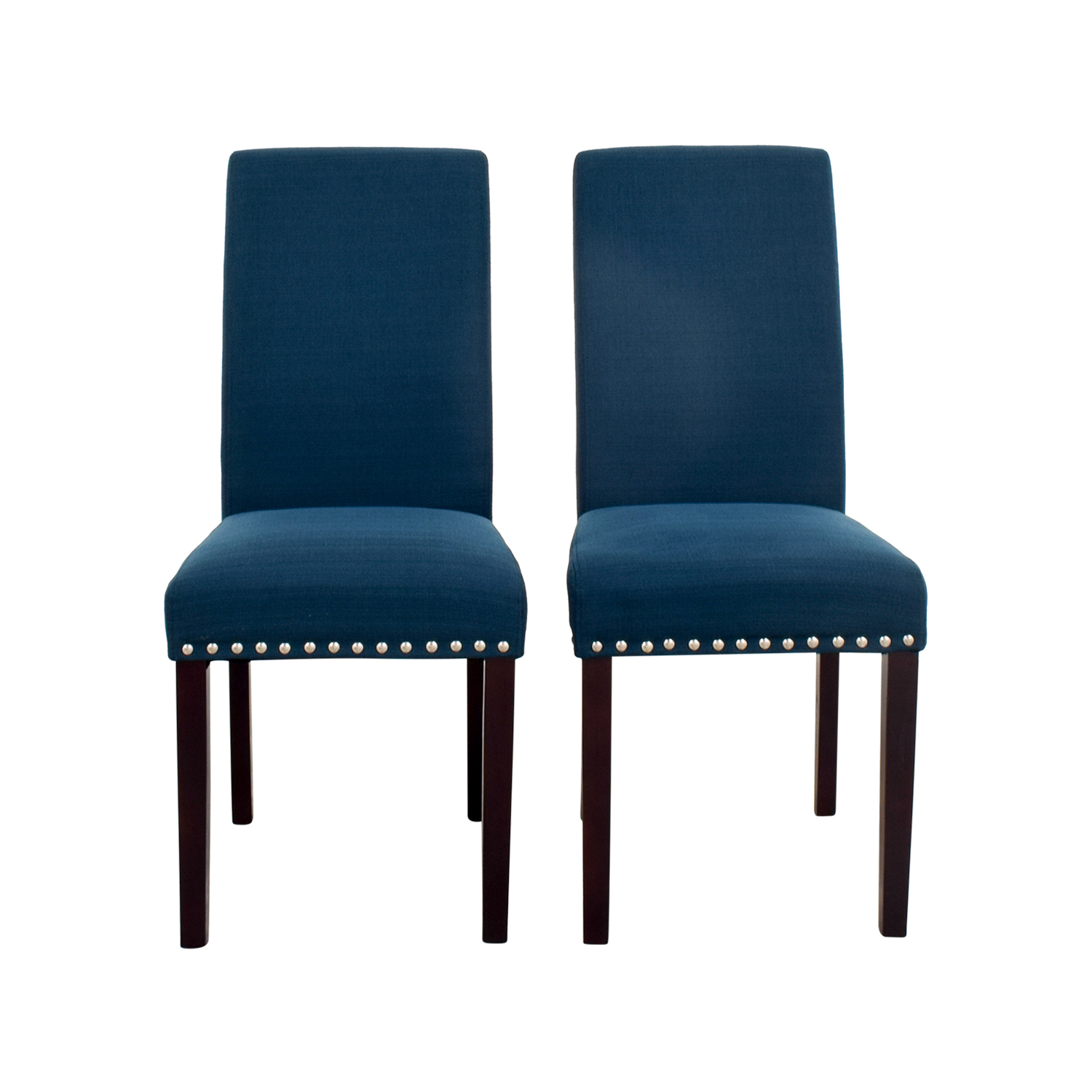 modway modway madrid nail head teal dining chairs for sale
