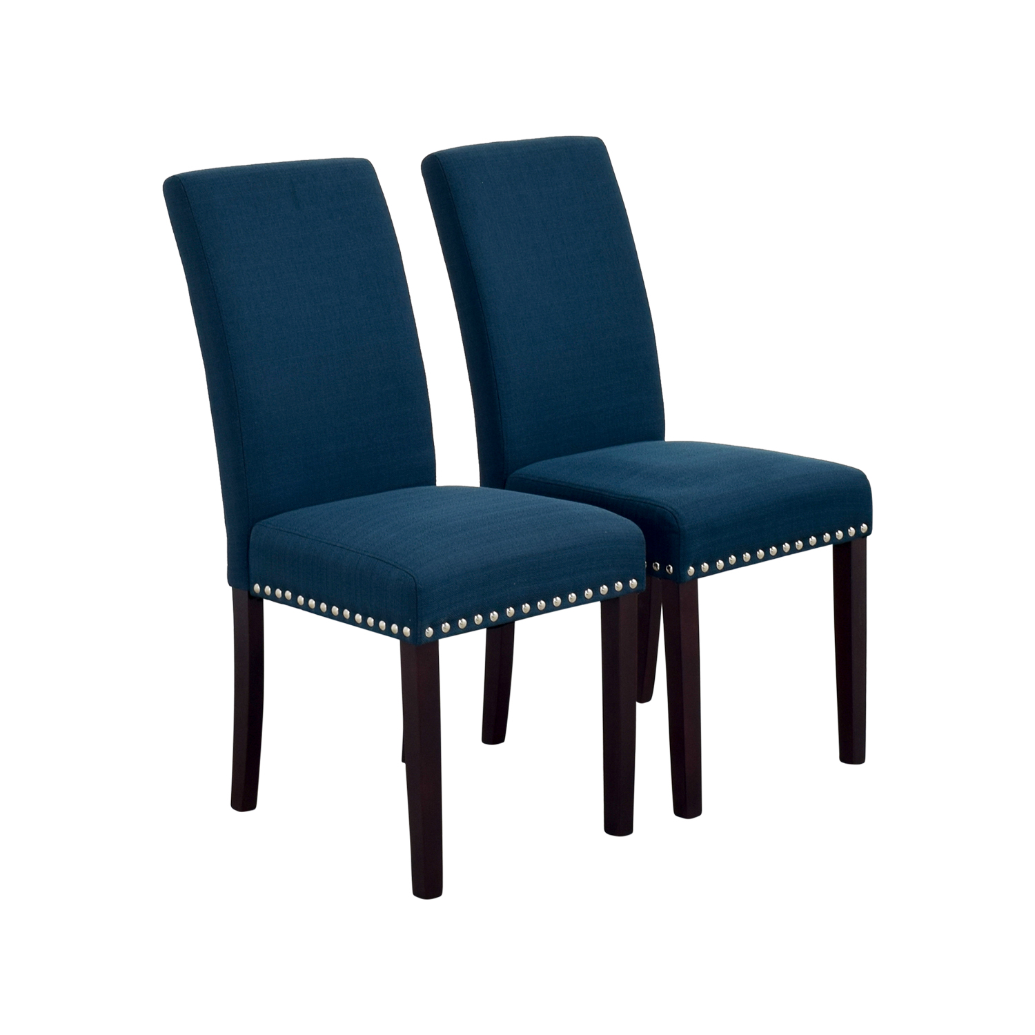72 off modway modway madrid nail head teal dining for Teal chairs for sale