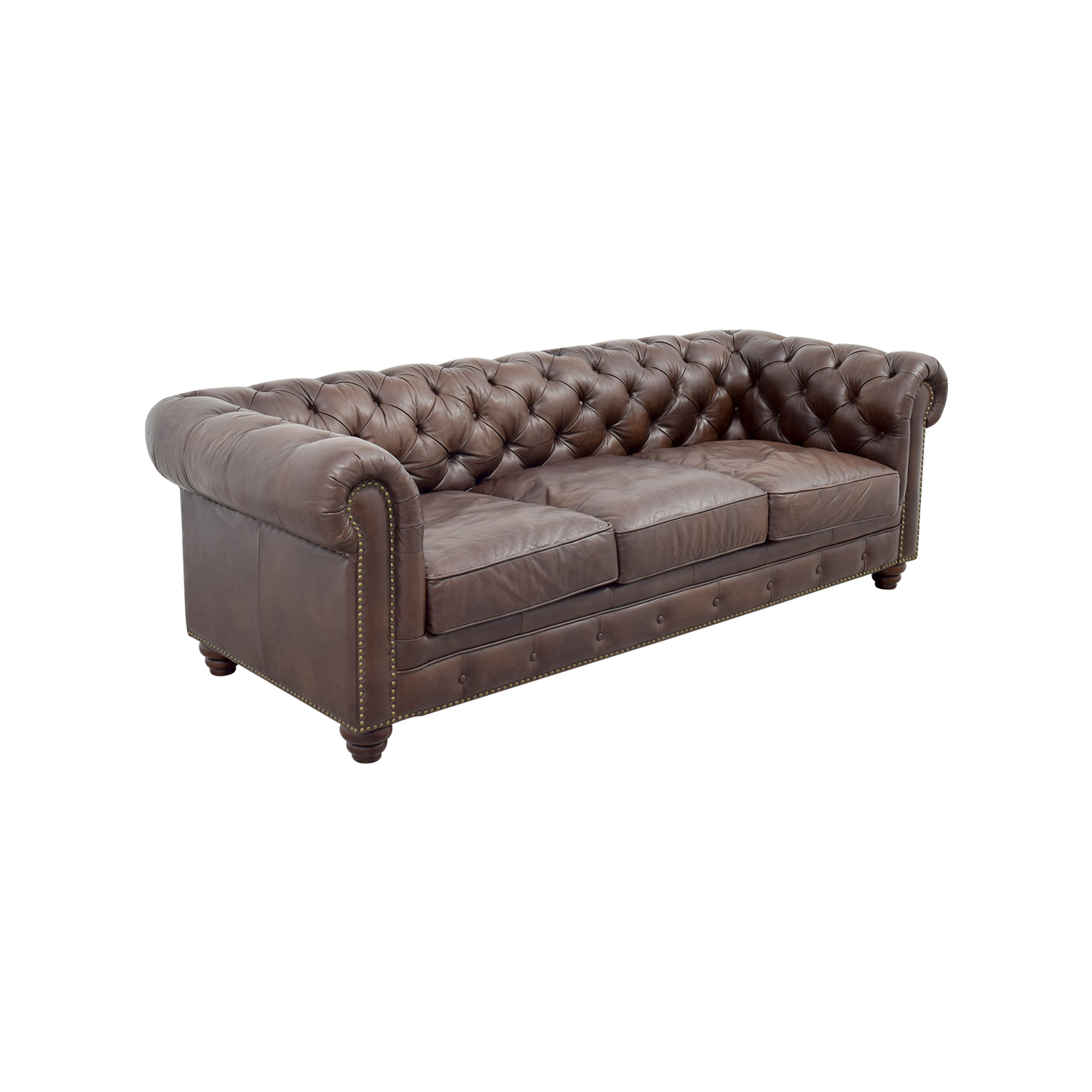 36 off raymour flanigan raymour flanigan bellanest saddler tufted leather sofa sofas Couches and loveseats