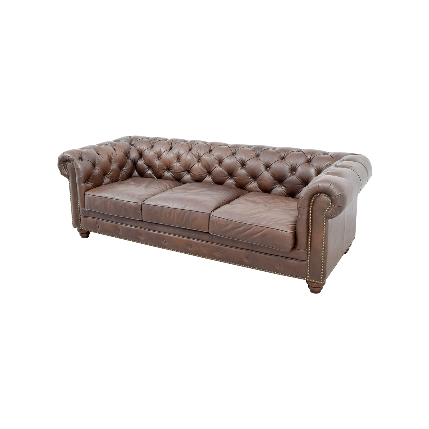 36 Off Raymour Flanigan Raymour Flanigan Bellanest Saddler  ~ Cheap Tufted Leather Sofa