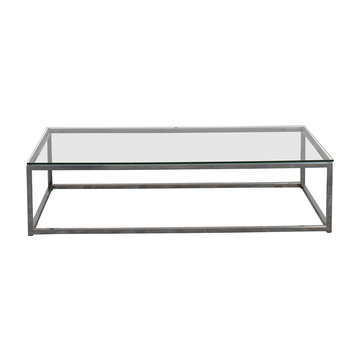 3% OFF - CB3 CB3 Smart Chrome and Glass Coffee Table / Tables