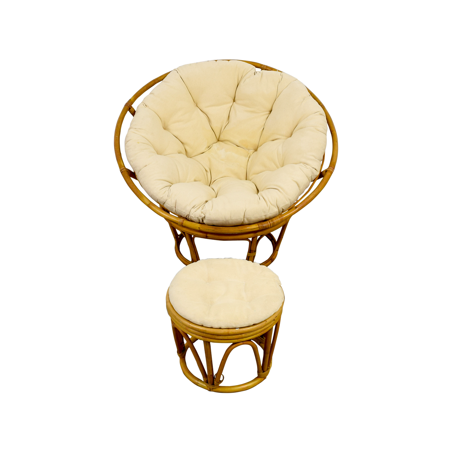 Pier 1 Pier 1 Papasan Chair with Footstool price