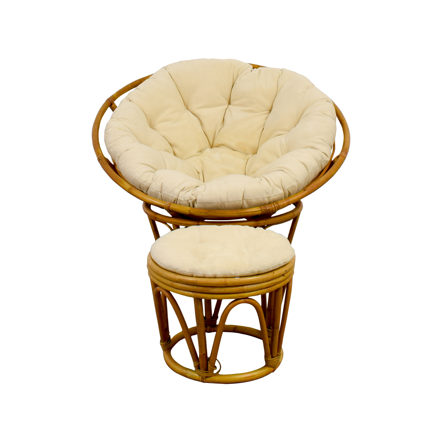 shop Pier 1 Papasan Chair with Footstool Pier 1 Accent Chairs