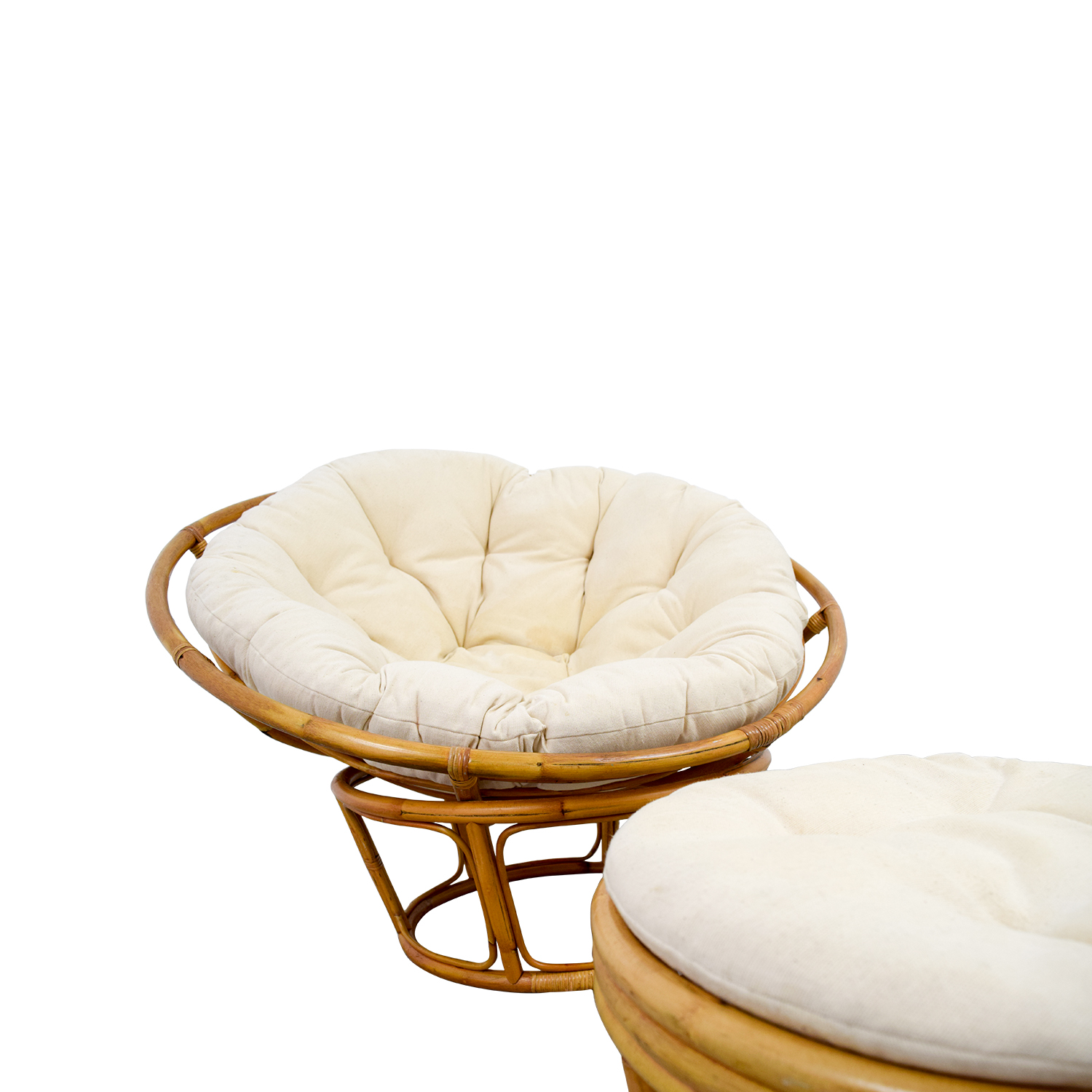 68 Off Pier 1 Pier 1 Papasan Chair With Footstool Chairs