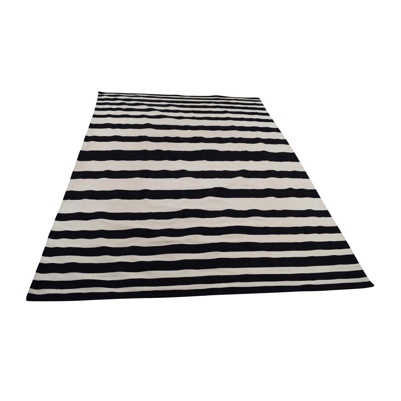 Room Envy Sargasso Room Envy Sargasso Flat Weave Rug black/white
